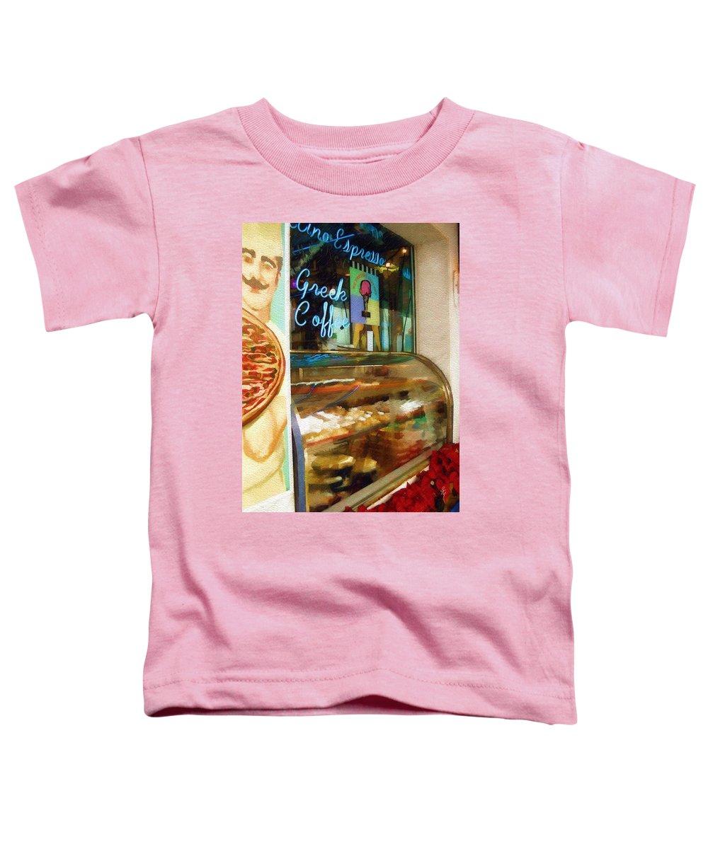 Greek Toddler T-Shirt featuring the photograph Greek Coffee by Sandy MacGowan