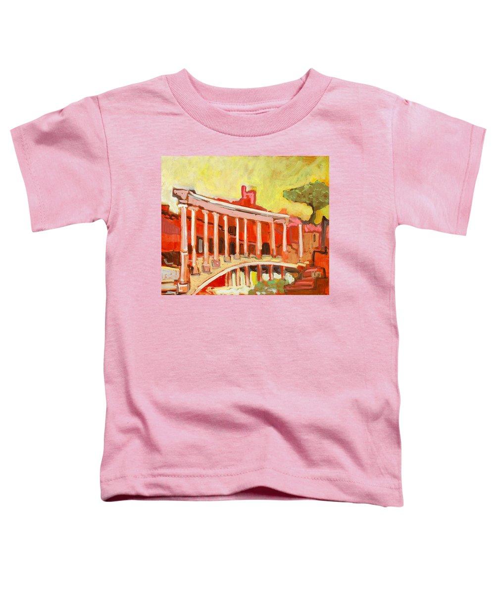 Villa Toddler T-Shirt featuring the painting Hadrian's Villa by Kurt Hausmann