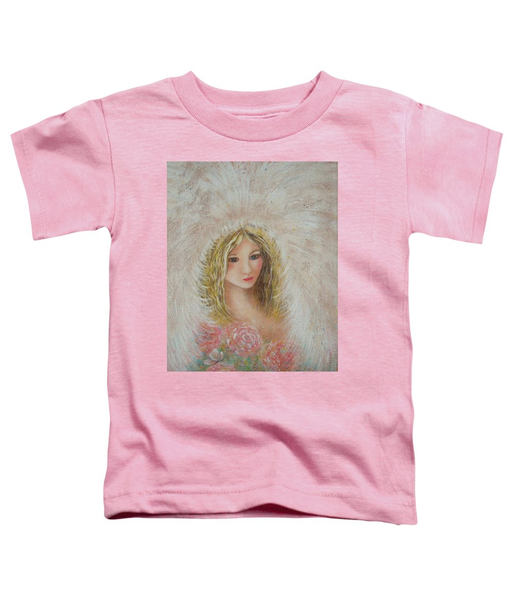 Angel Toddler T-Shirt featuring the painting Heavenly Angel by Natalie Holland