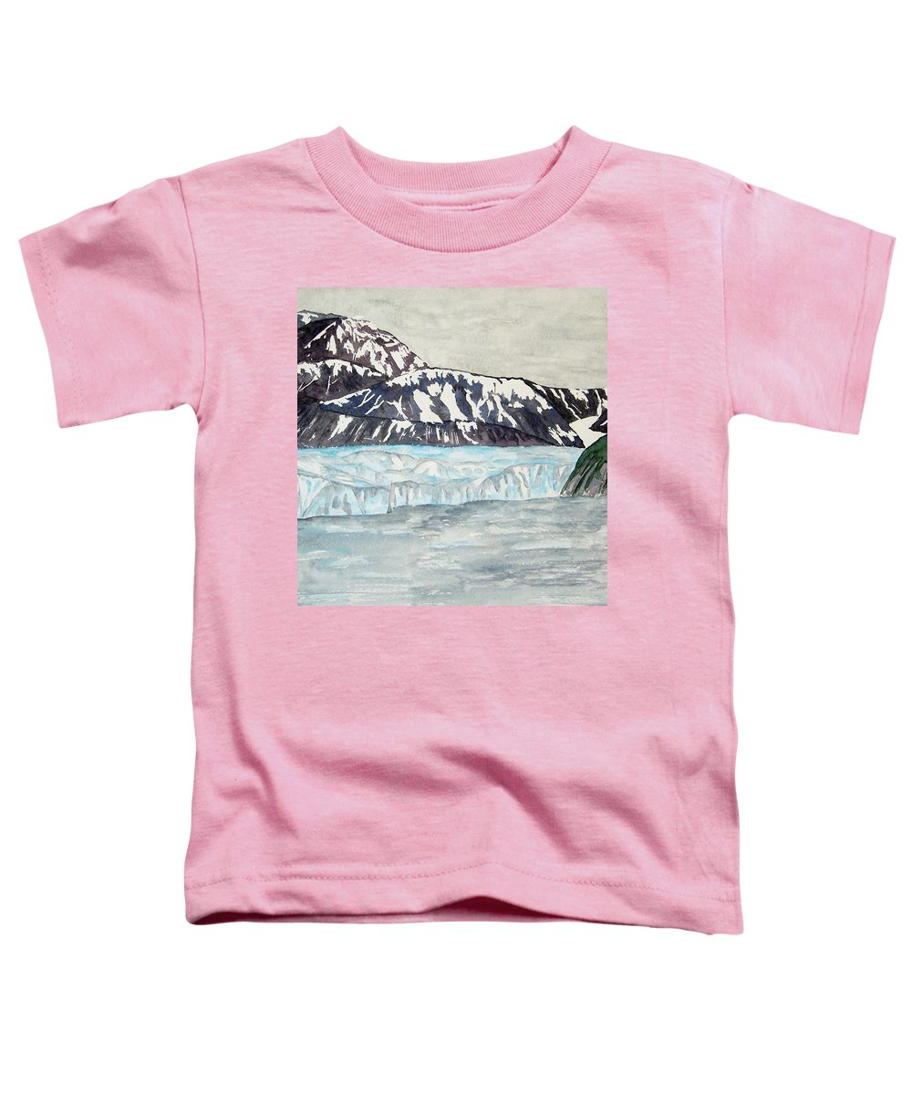 Glacier Toddler T-Shirt featuring the painting Hubbard Glacier In July by Larry Wright