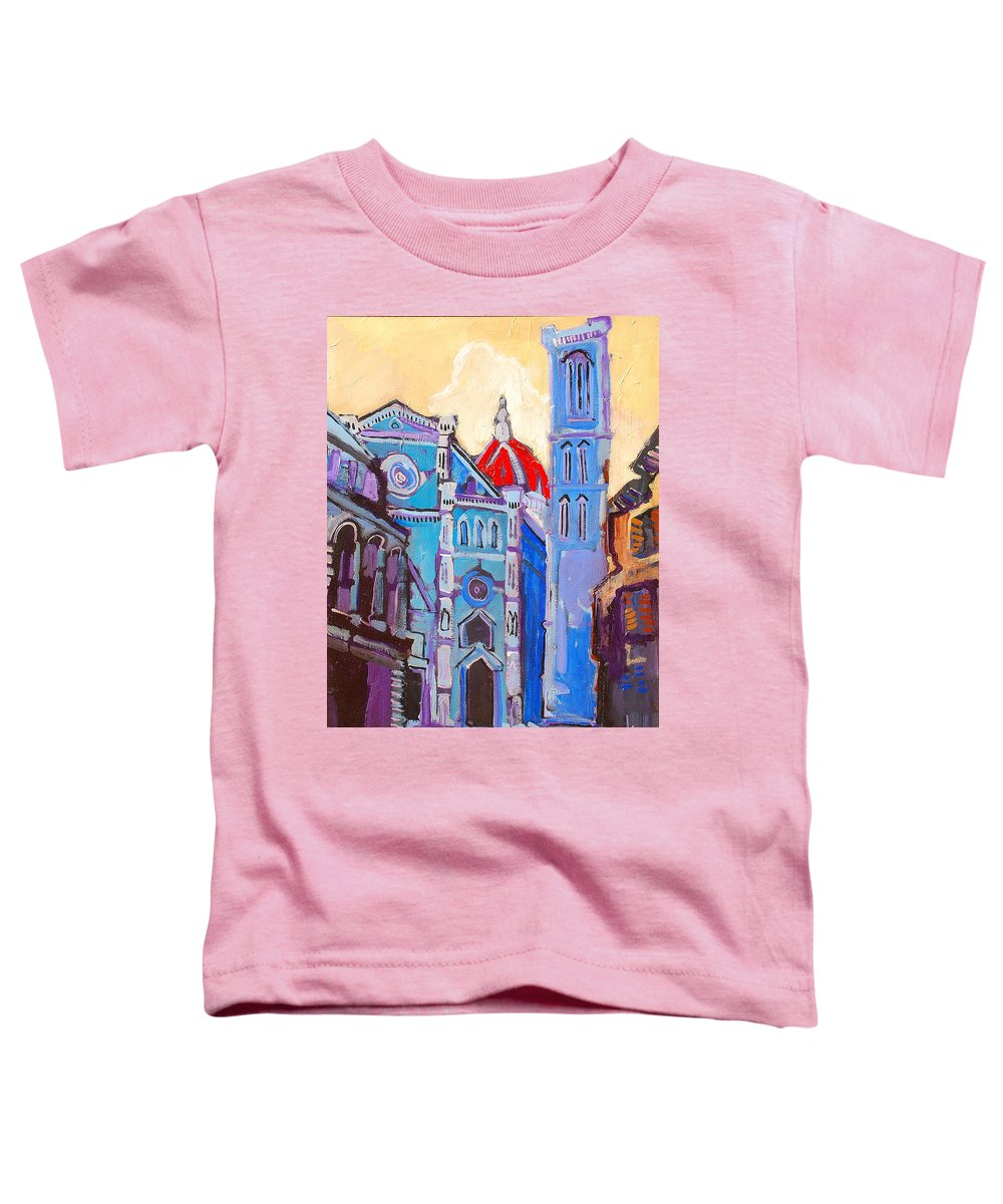 Florence Toddler T-Shirt featuring the painting In The Middle Of by Kurt Hausmann
