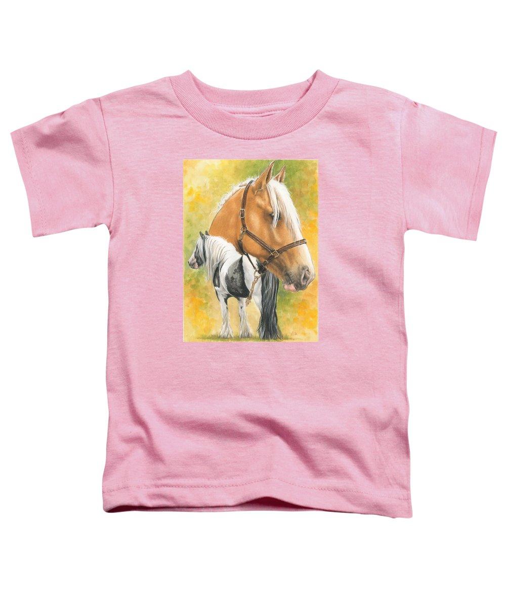 Draft Horse Toddler T-Shirt featuring the mixed media Irish Cob by Barbara Keith