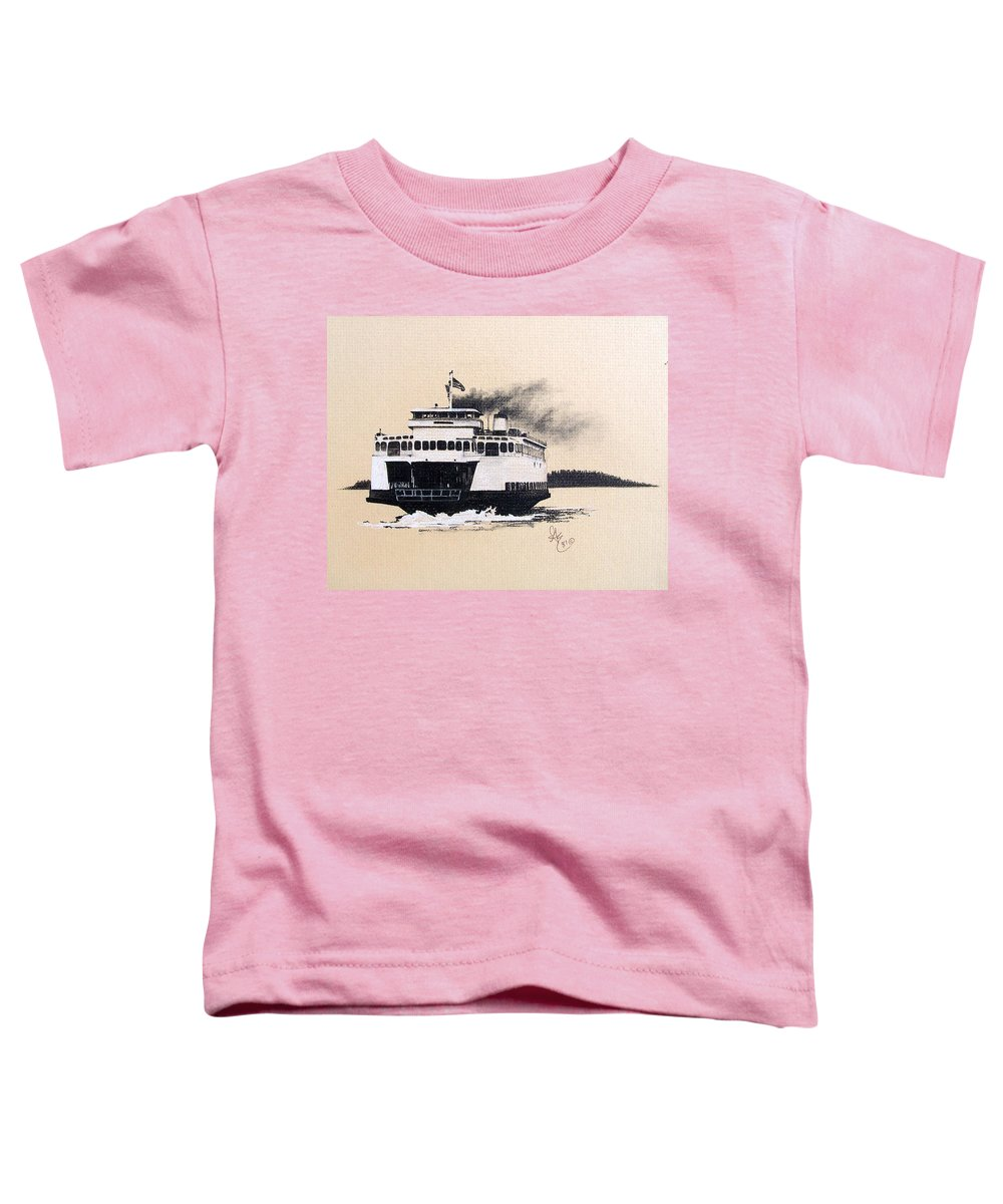 Ferry Toddler T-Shirt featuring the pastel Issaquah by Gale Cochran-Smith