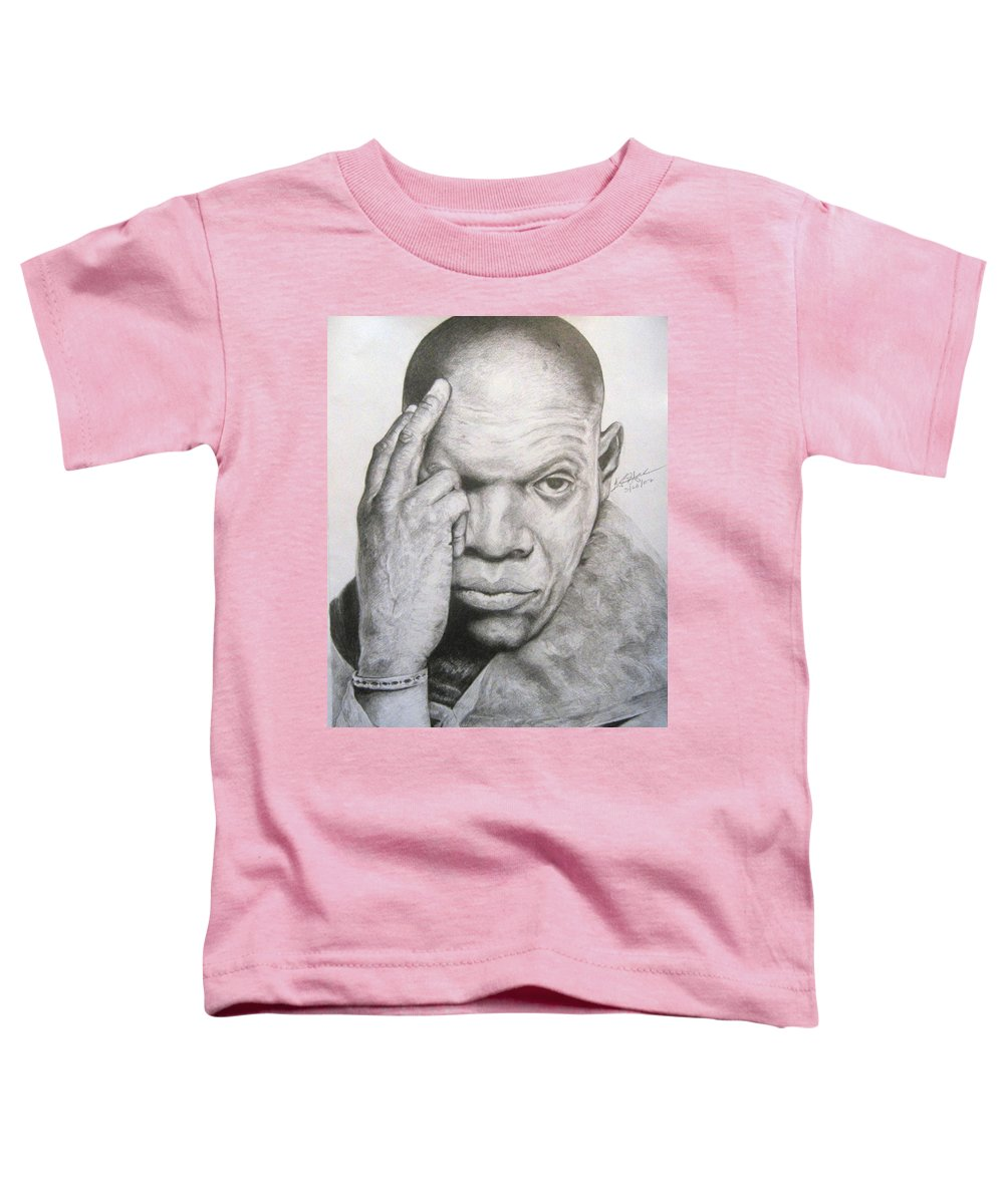 Portrait Toddler T-Shirt featuring the drawing Jackson By Kyle Anderson by Joyce Owens