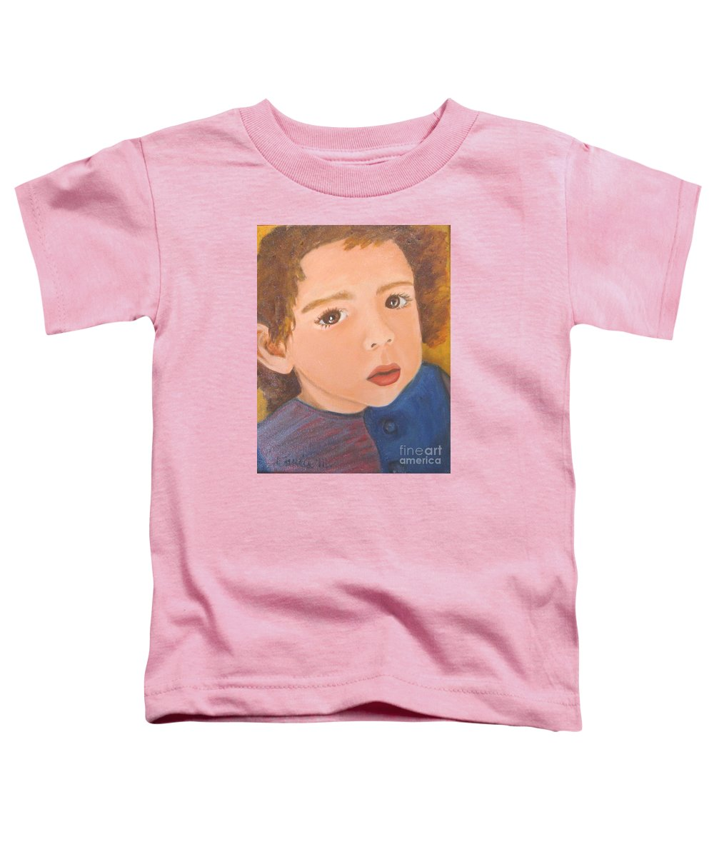 Portrait Toddler T-Shirt featuring the painting Jackson by Laurie Morgan
