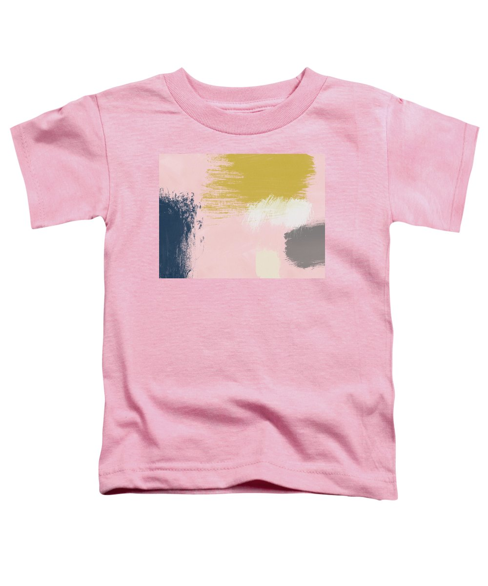 Abstract Toddler T-Shirt featuring the painting Jubilee Mix 3- Abstract Art By Linda Woods by Linda Woods