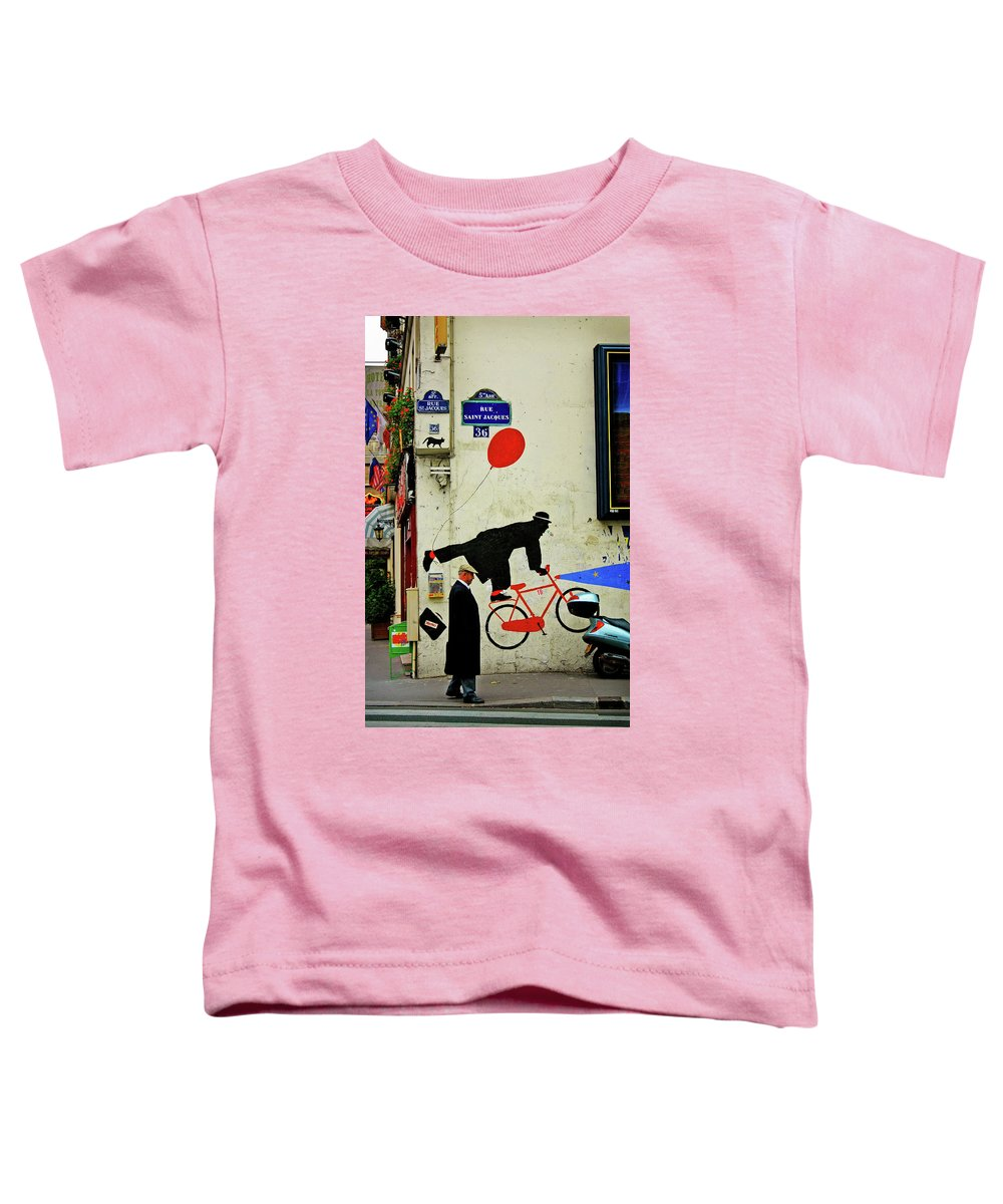 Paris Toddler T-Shirt featuring the photograph Kick In The Head by Skip Hunt