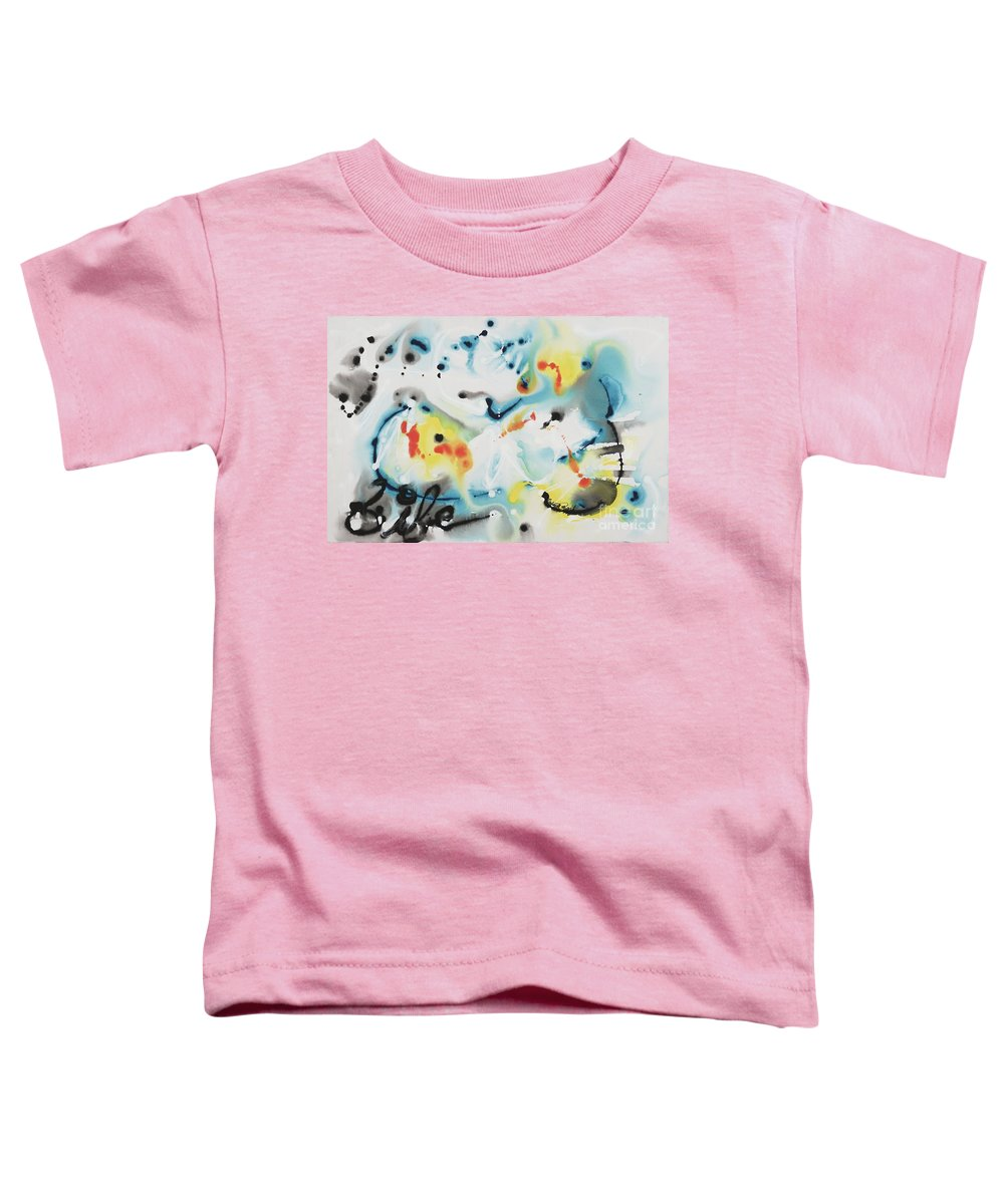 Life Toddler T-Shirt featuring the painting Life by Nadine Rippelmeyer