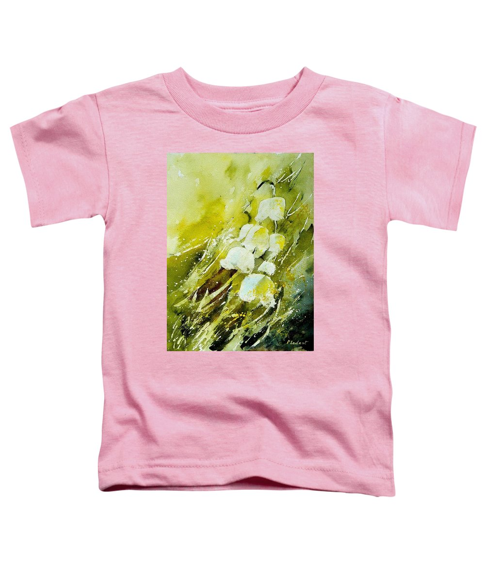 Flowers Toddler T-Shirt featuring the painting Lilly Of The Valley by Pol Ledent