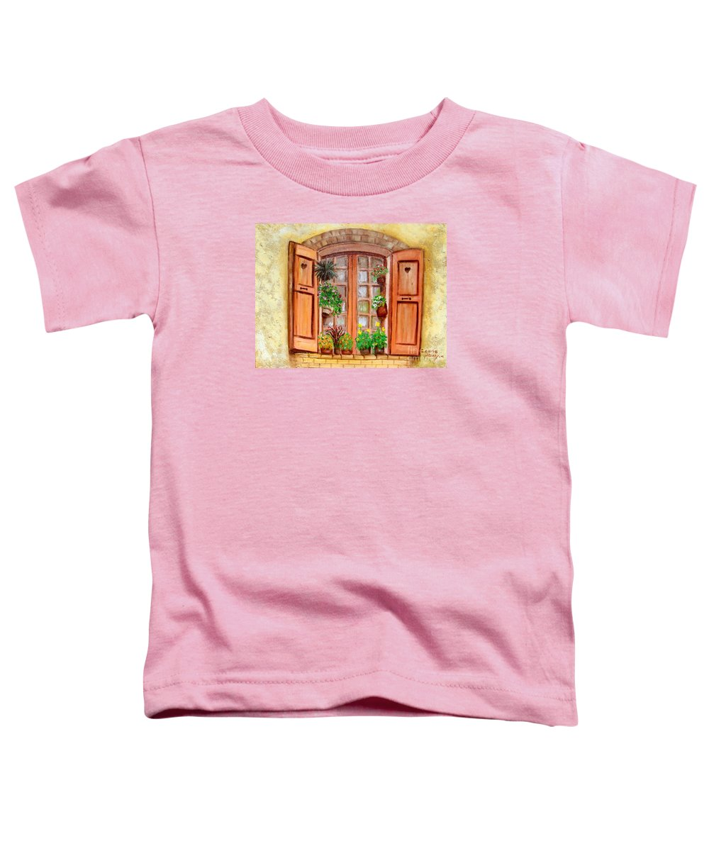 Windows Toddler T-Shirt featuring the painting Love Nest by Laurie Morgan