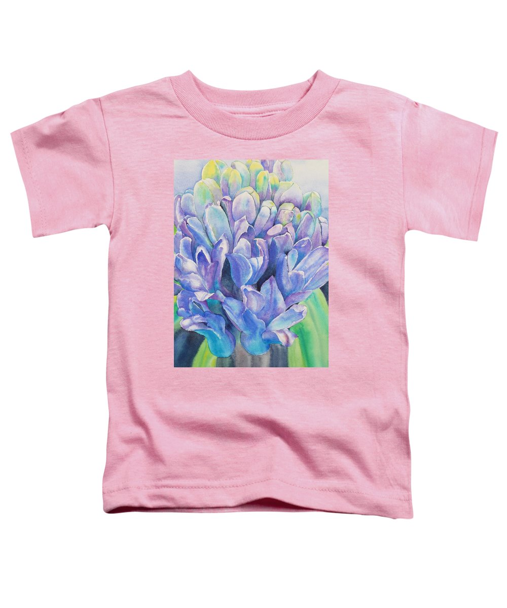 Flower Toddler T-Shirt featuring the painting Lovely Lupine by Ruth Kamenev