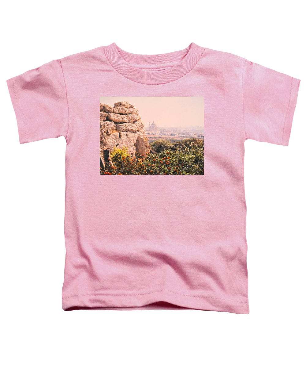 Malta Toddler T-Shirt featuring the photograph Malta Wall by Ian MacDonald