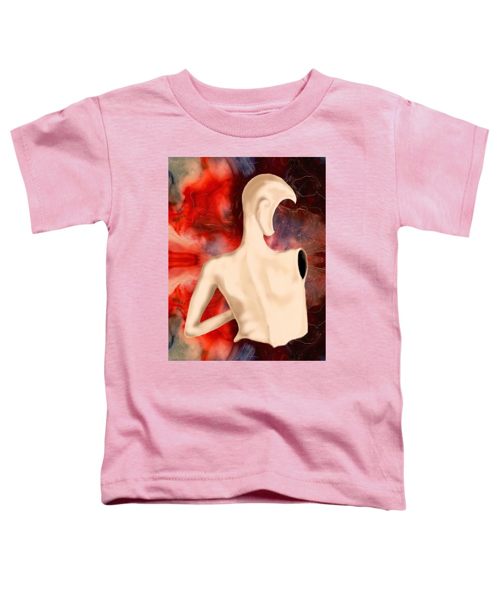 Woman Fashion Naked Surreal Abstract Toddler T-Shirt featuring the digital art Manequin by Veronica Jackson
