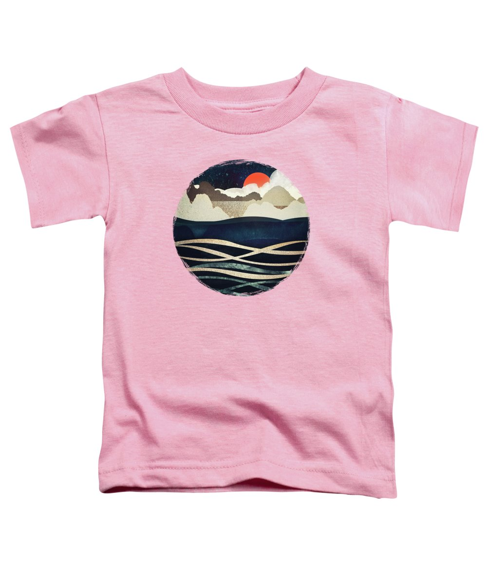 Midnight Toddler T-Shirt featuring the digital art Midnight Beach by Spacefrog Designs