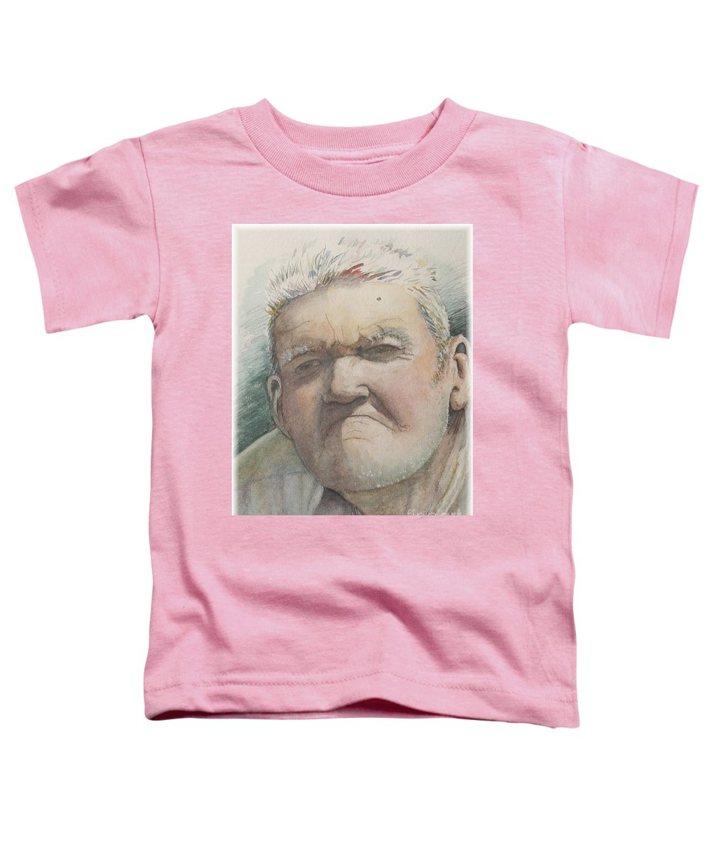 Portrait Toddler T-Shirt featuring the painting Minnesota Farmer by Nadine Rippelmeyer