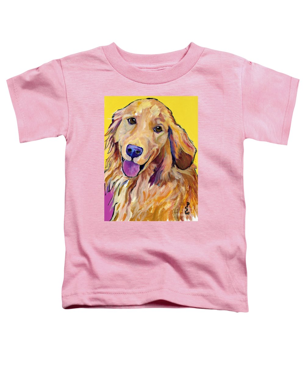 Acrylic Paintings Toddler T-Shirt featuring the painting Molly by Pat Saunders-White