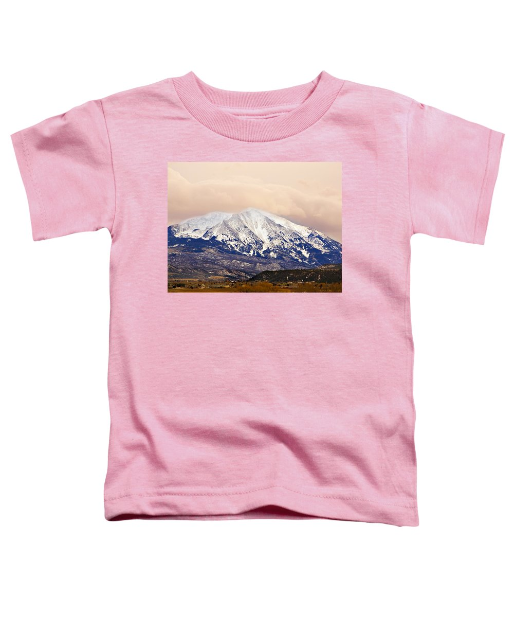 Americana Toddler T-Shirt featuring the photograph Mount Sopris by Marilyn Hunt