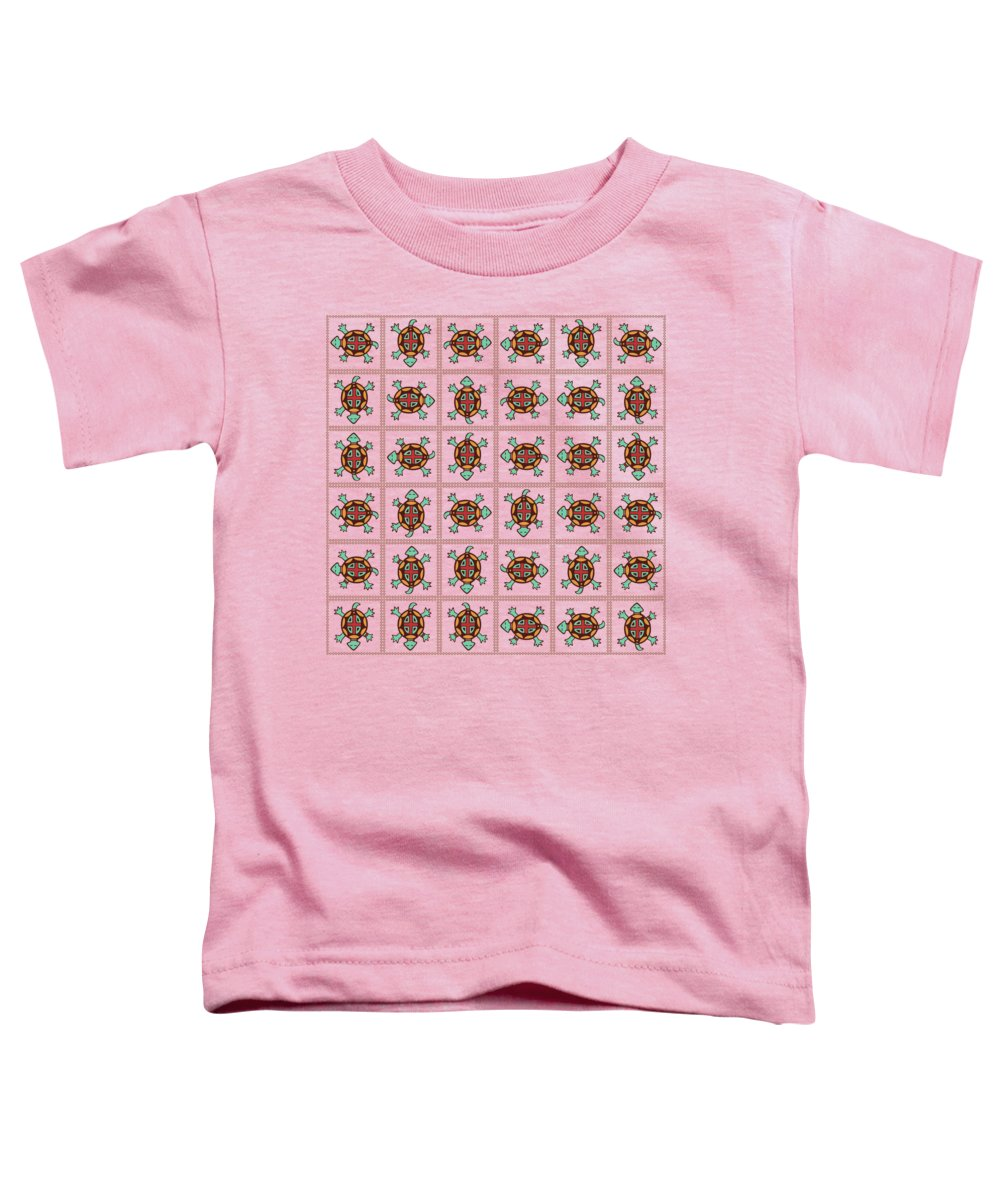 Pattern Toddler T-Shirt featuring the digital art Native American Pattern by Gaspar Avila