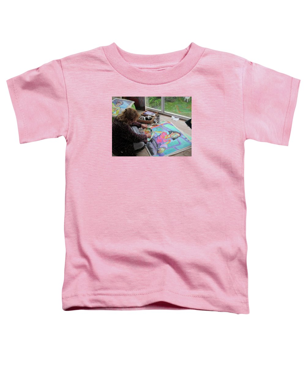 Landscape Toddler T-Shirt featuring the painting Nude by Raquel Sarangello