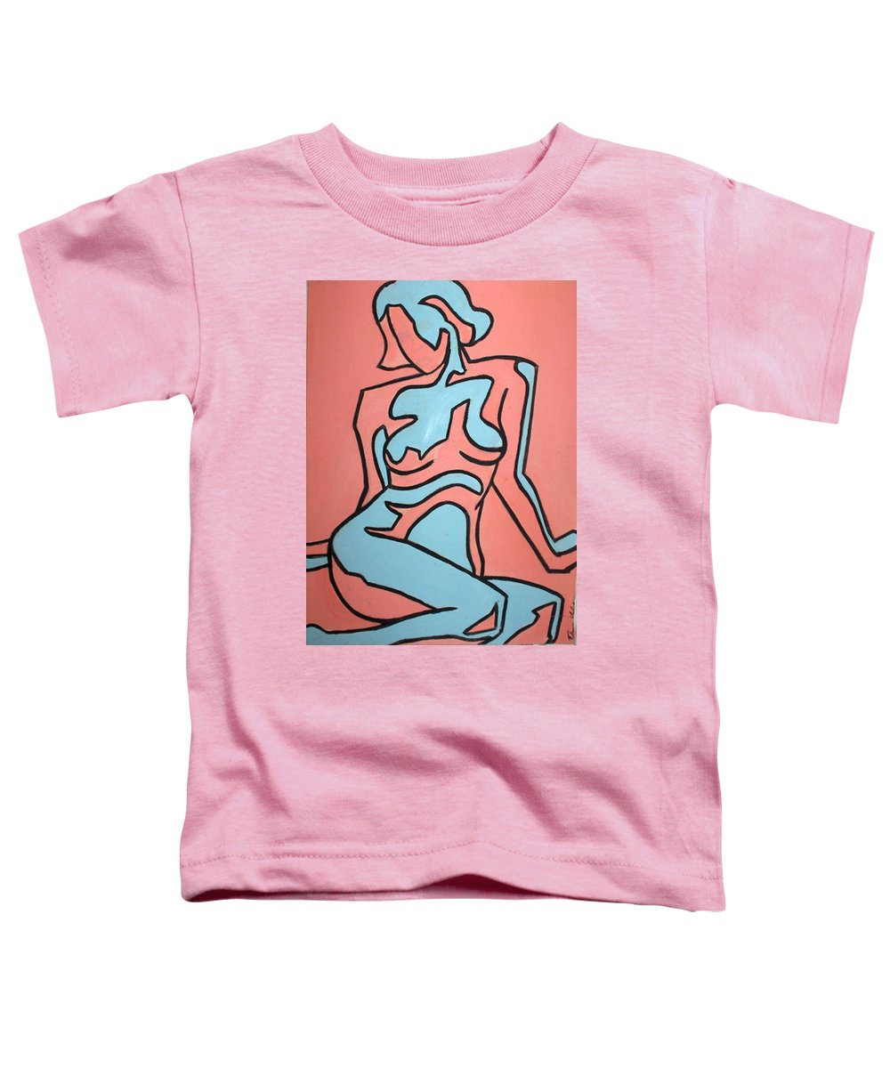 Women Toddler T-Shirt featuring the painting One by Thomas Valentine