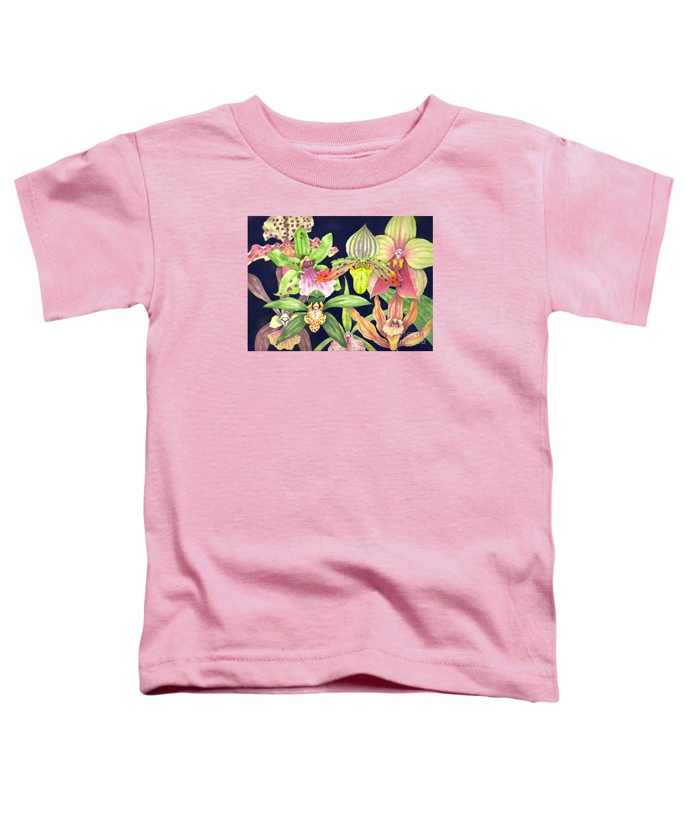 Orchids Toddler T-Shirt featuring the painting Orchids by Lucy Arnold