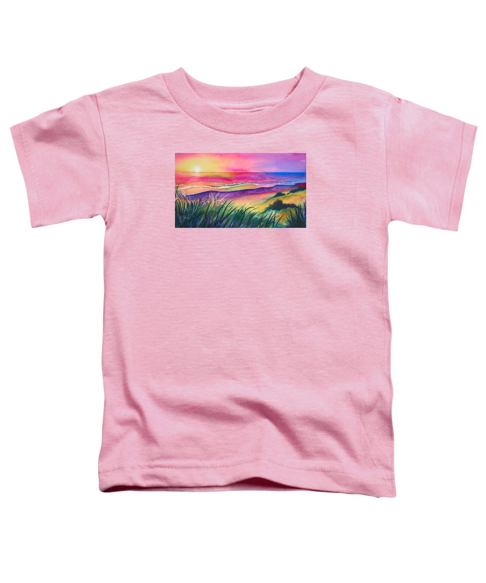Pacific Toddler T-Shirt featuring the painting Pacific Evening by Karen Stark