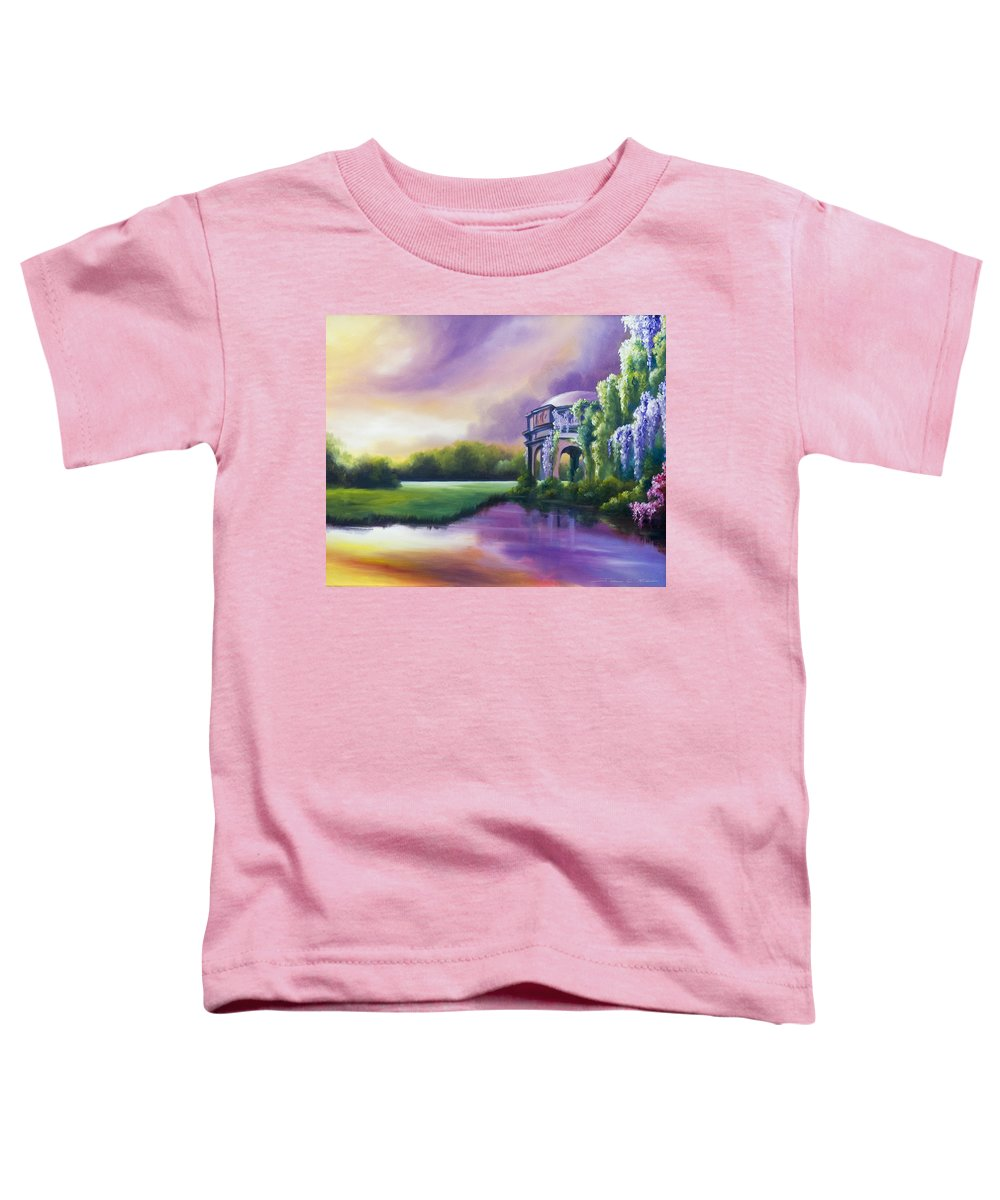 Marsh Toddler T-Shirt featuring the painting Palace Of The Arts by James Christopher Hill