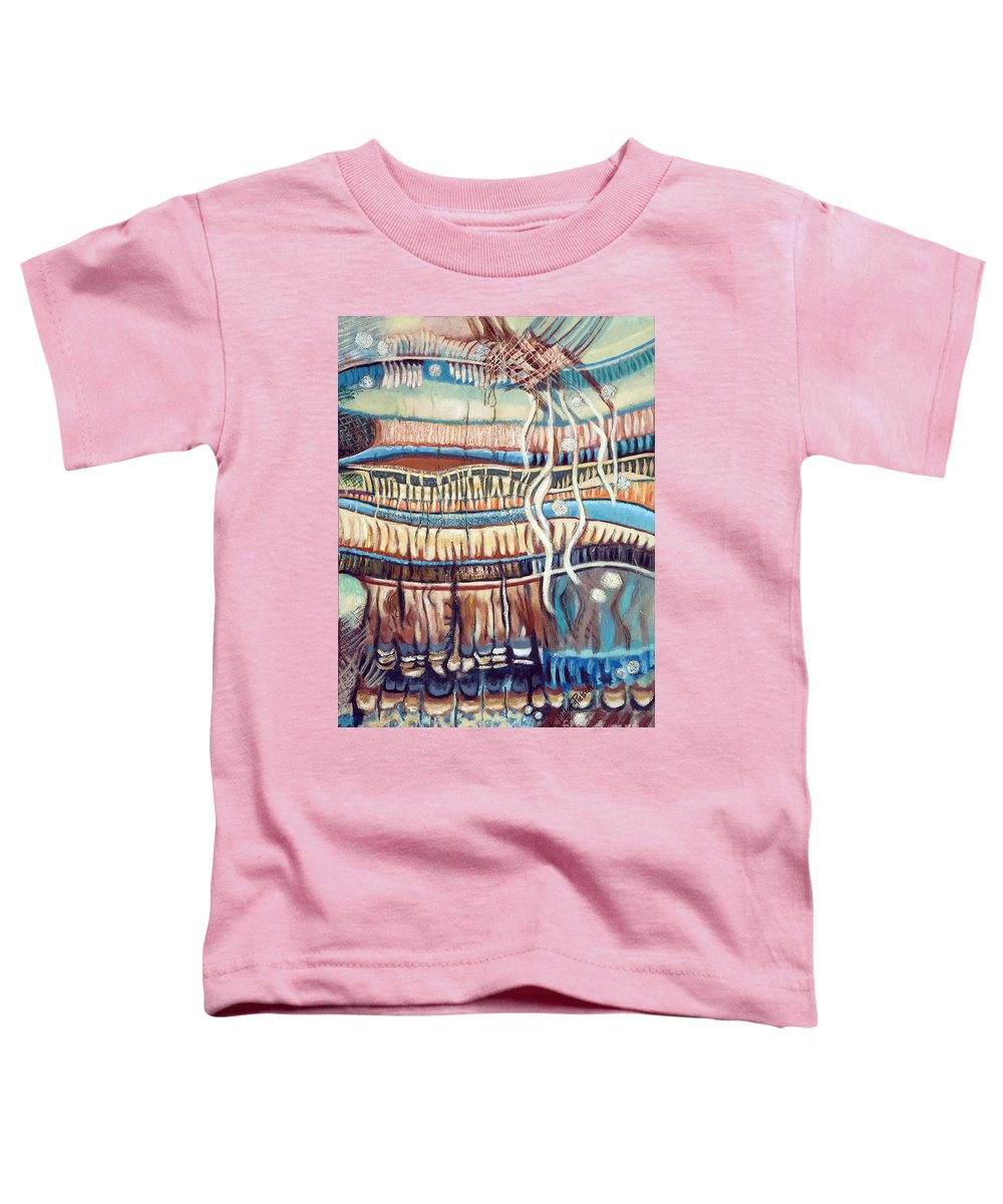 Abstract Toddler T-Shirt featuring the painting Palm Contractions by Kerryn Madsen-Pietsch