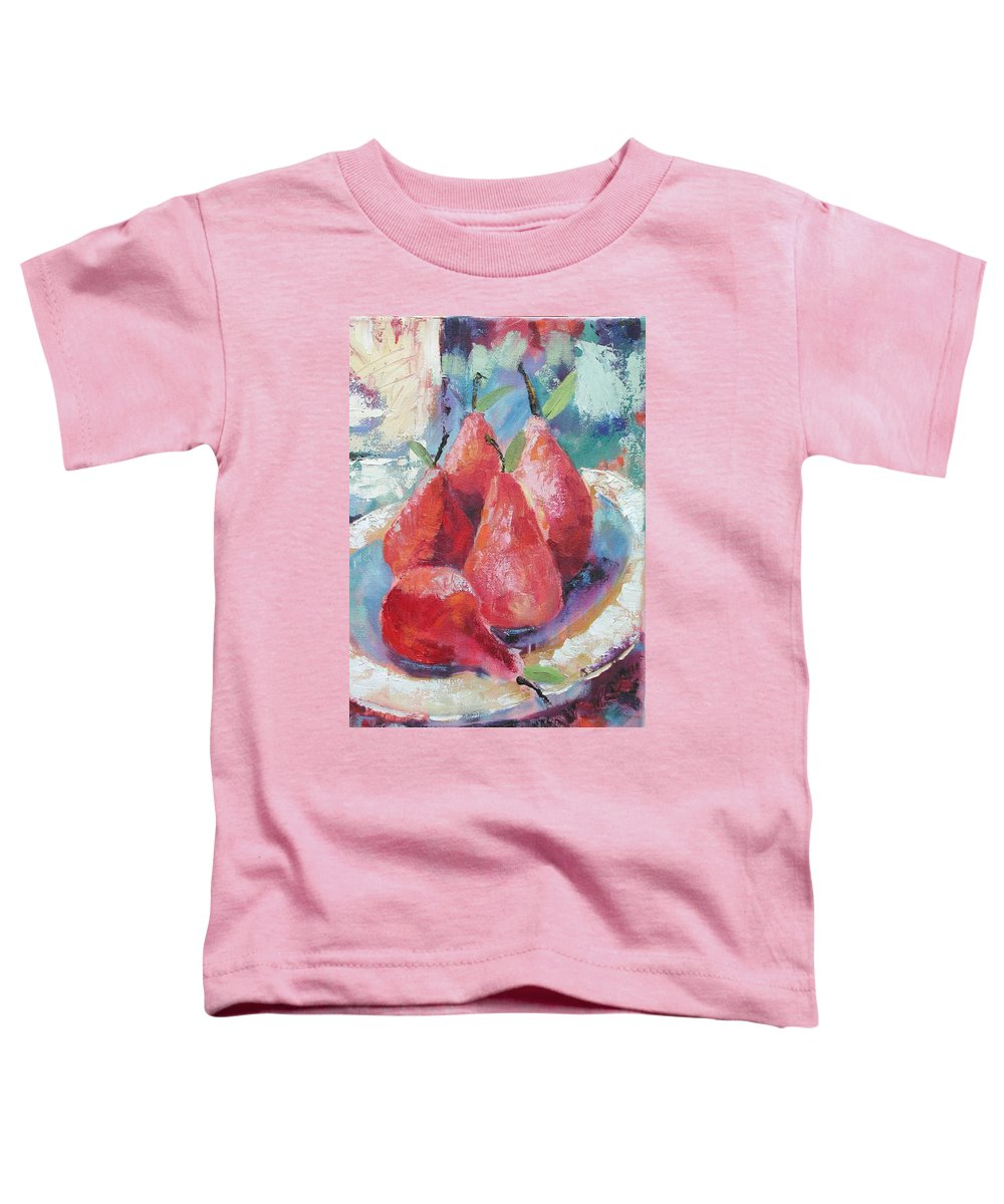 Pears Toddler T-Shirt featuring the painting Pears by Ginger Concepcion
