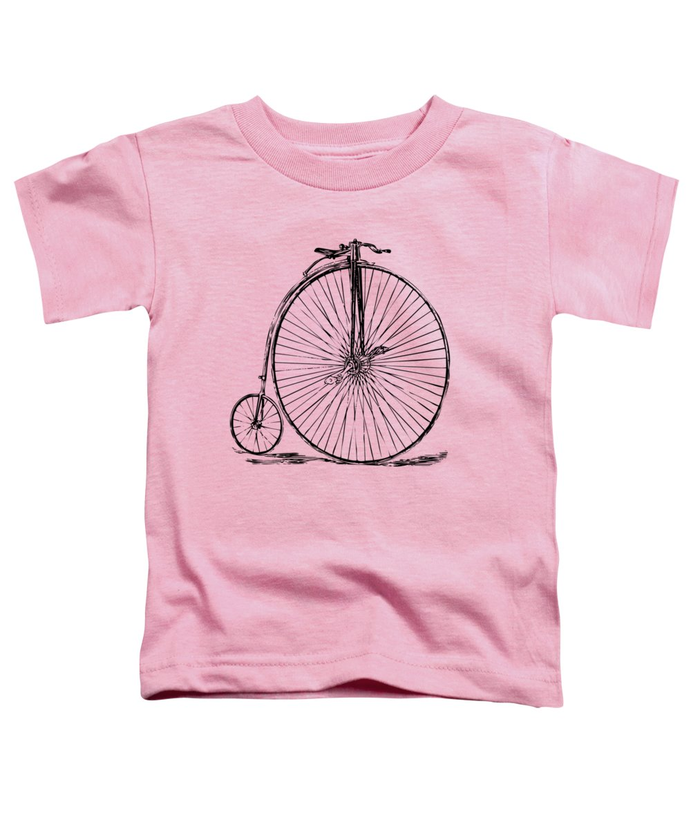 Penny-farthing Toddler T-Shirt featuring the digital art Penny-farthing 1867 High Wheeler Bicycle Vintage by Nikki Marie Smith