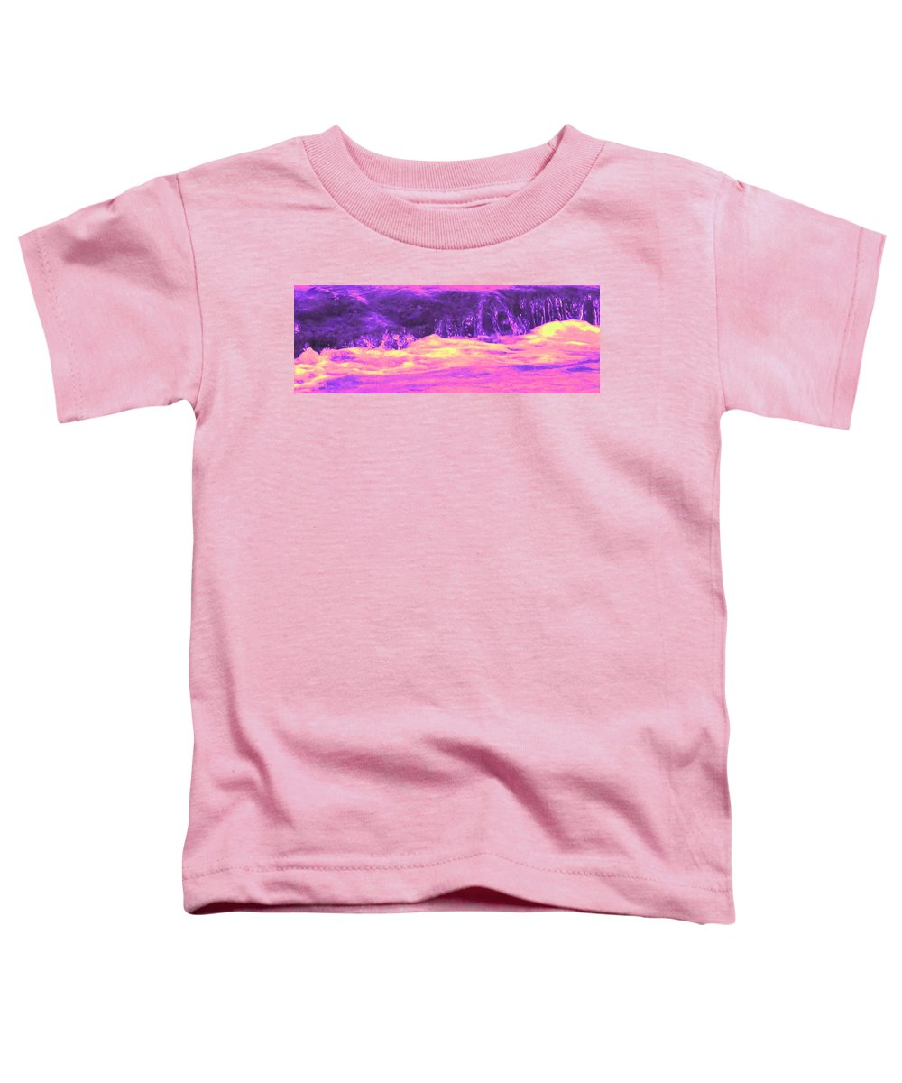Seascape Toddler T-Shirt featuring the photograph Pink Tidal Pool by Ian MacDonald