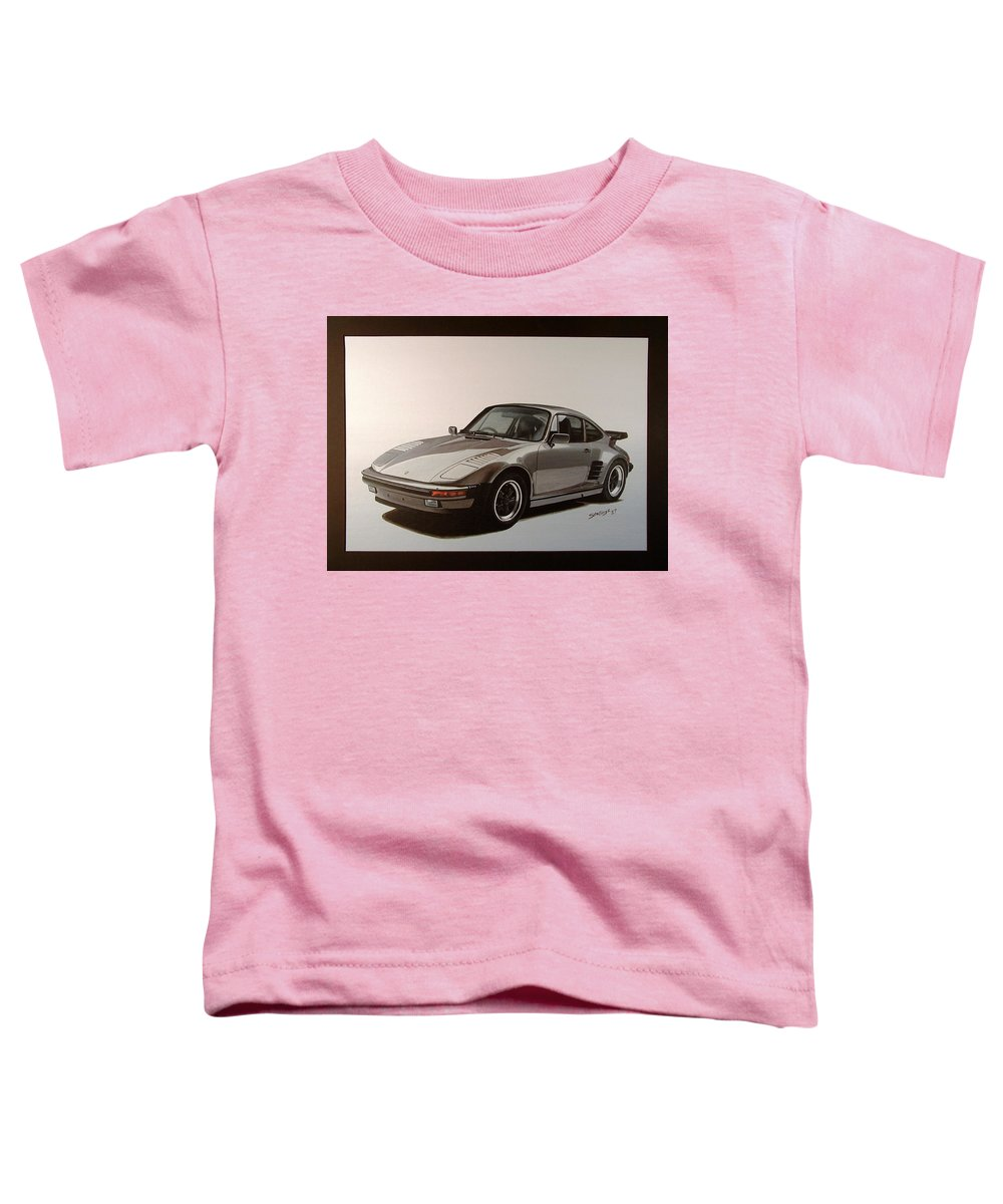 Car Toddler T-Shirt featuring the painting Porsche by Shawn Stallings