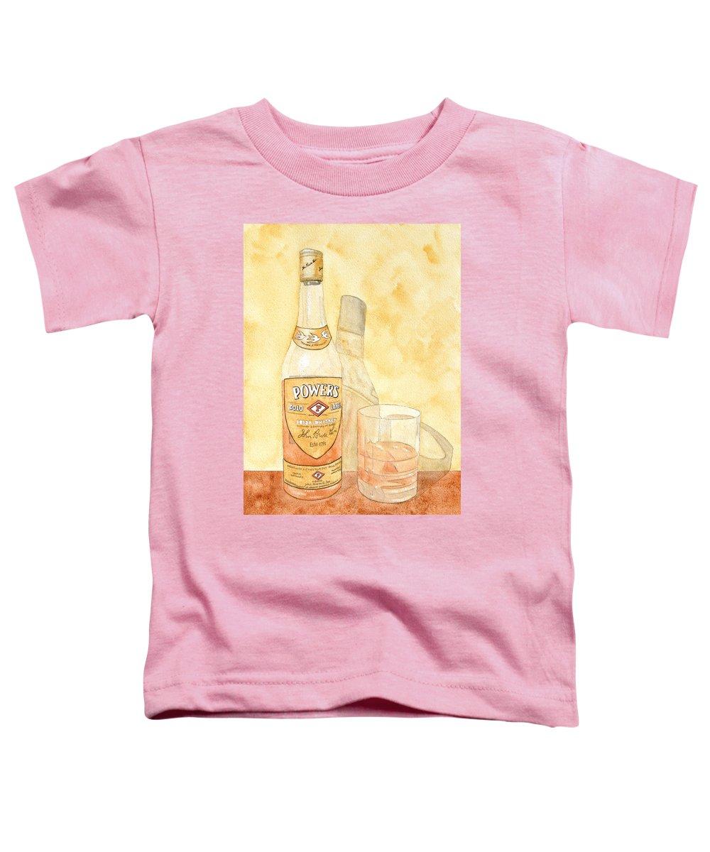 Irish Toddler T-Shirt featuring the painting Powers Irish Whiskey by Ken Powers