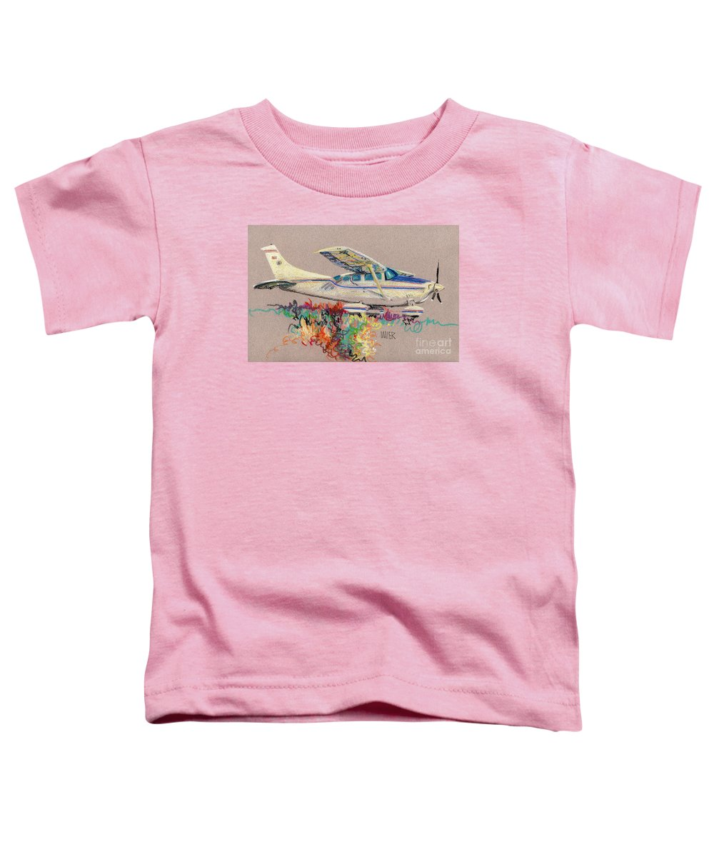 Small Plane Toddler T-Shirt featuring the drawing Private Plane by Donald Maier