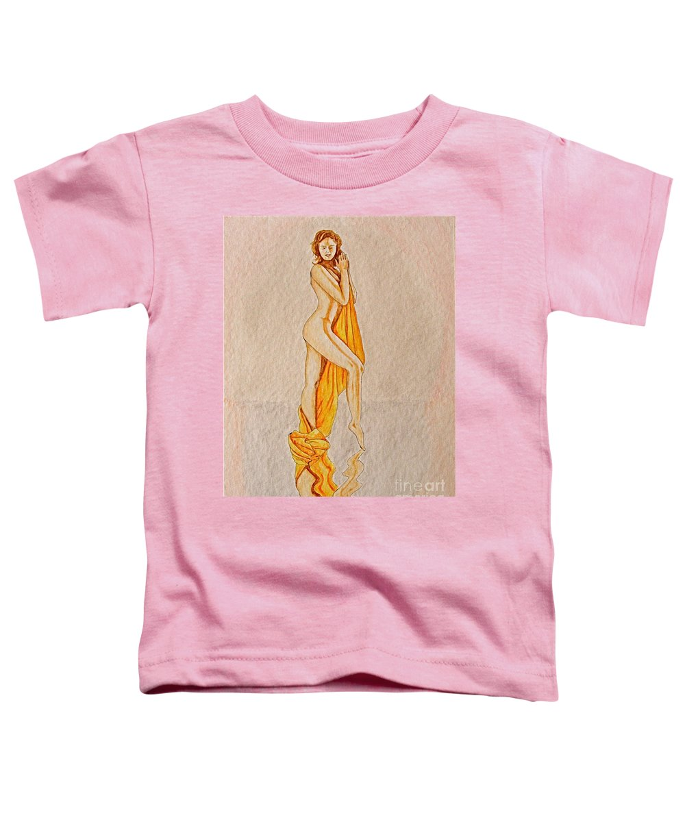 Nude Toddler T-Shirt featuring the painting Reflection by Herschel Fall
