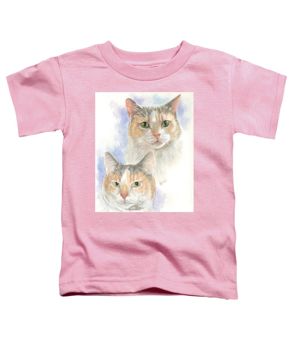 Domestic Toddler T-Shirt featuring the mixed media Reno by Barbara Keith