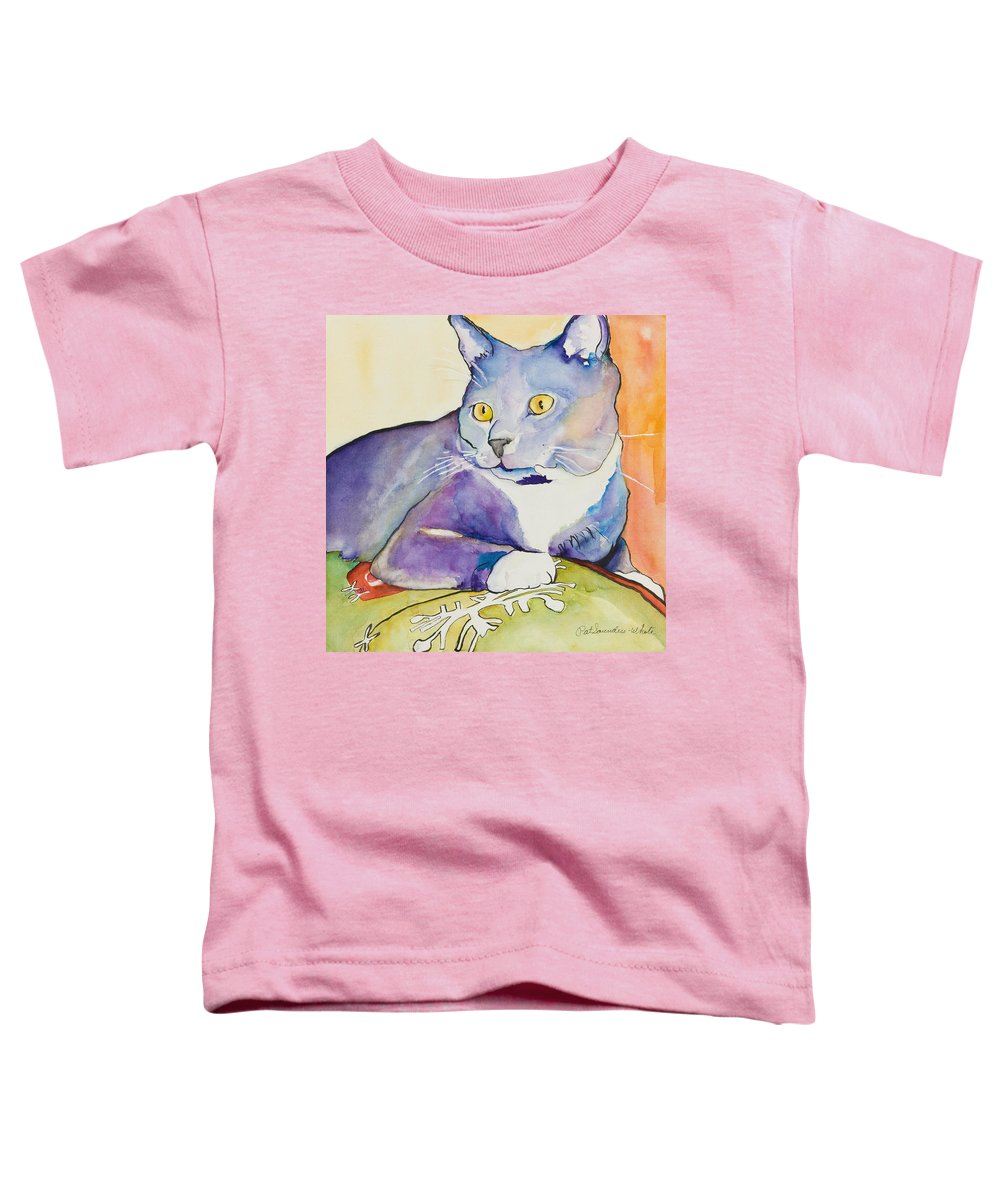 Pat Saunders-white Toddler T-Shirt featuring the painting Rocky by Pat Saunders-White