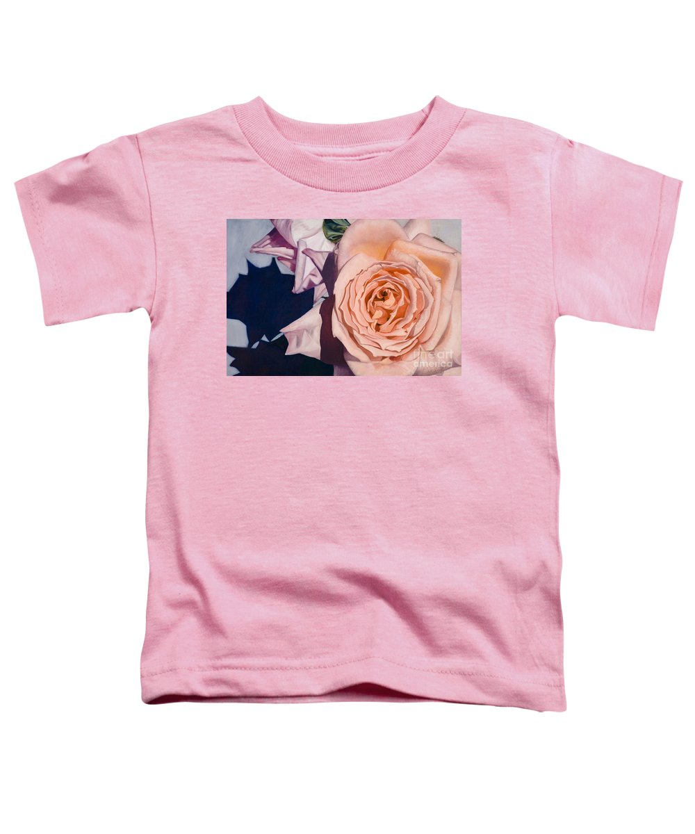 Roses Toddler T-Shirt featuring the painting Rose Splendour by Kerryn Madsen-Pietsch