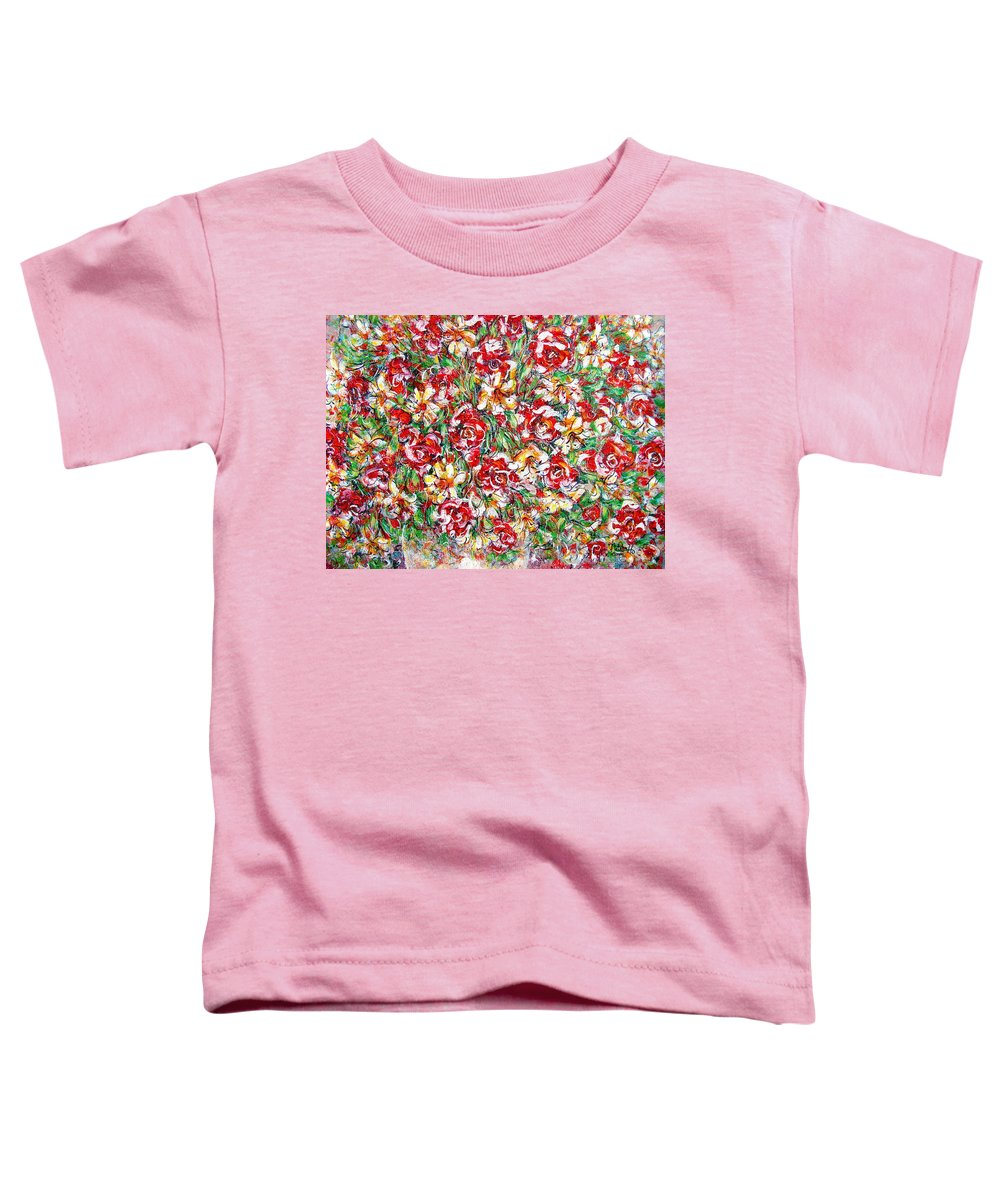 Red Roses Toddler T-Shirt featuring the painting Roses For You by Natalie Holland