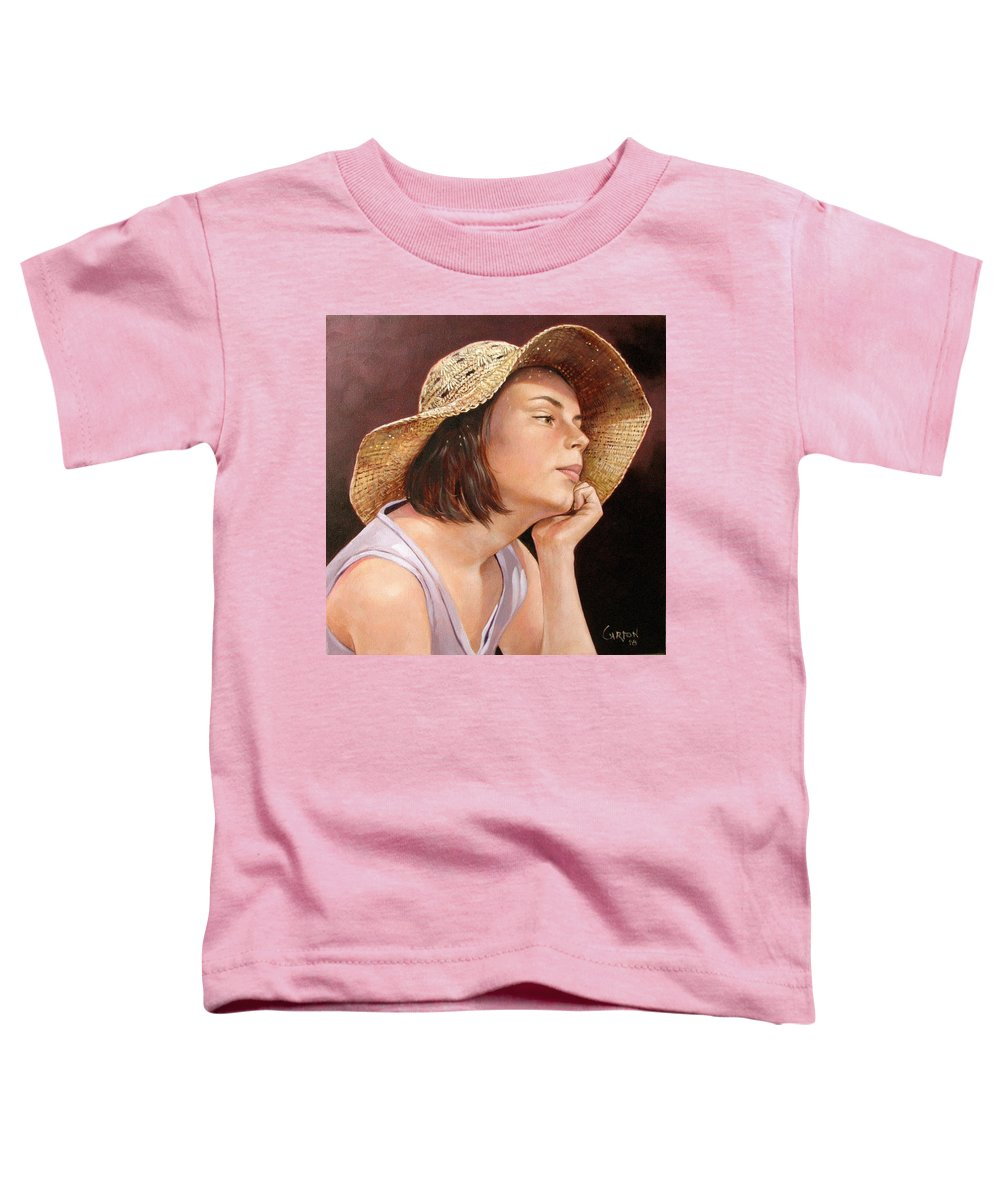 Portrait Toddler T-Shirt featuring the painting Sammie by Jerrold Carton