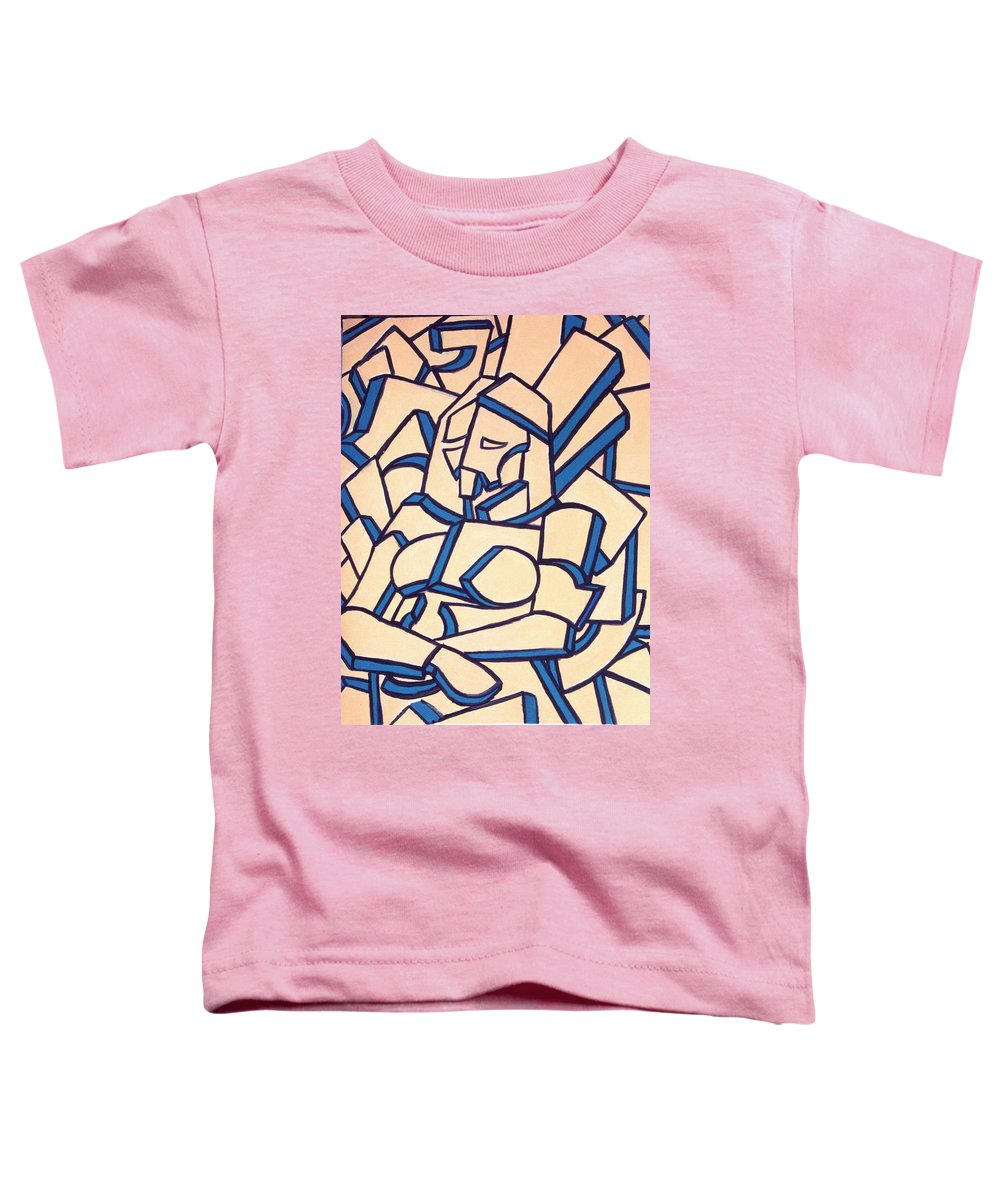 Girl Toddler T-Shirt featuring the painting Seated Women by Thomas Valentine
