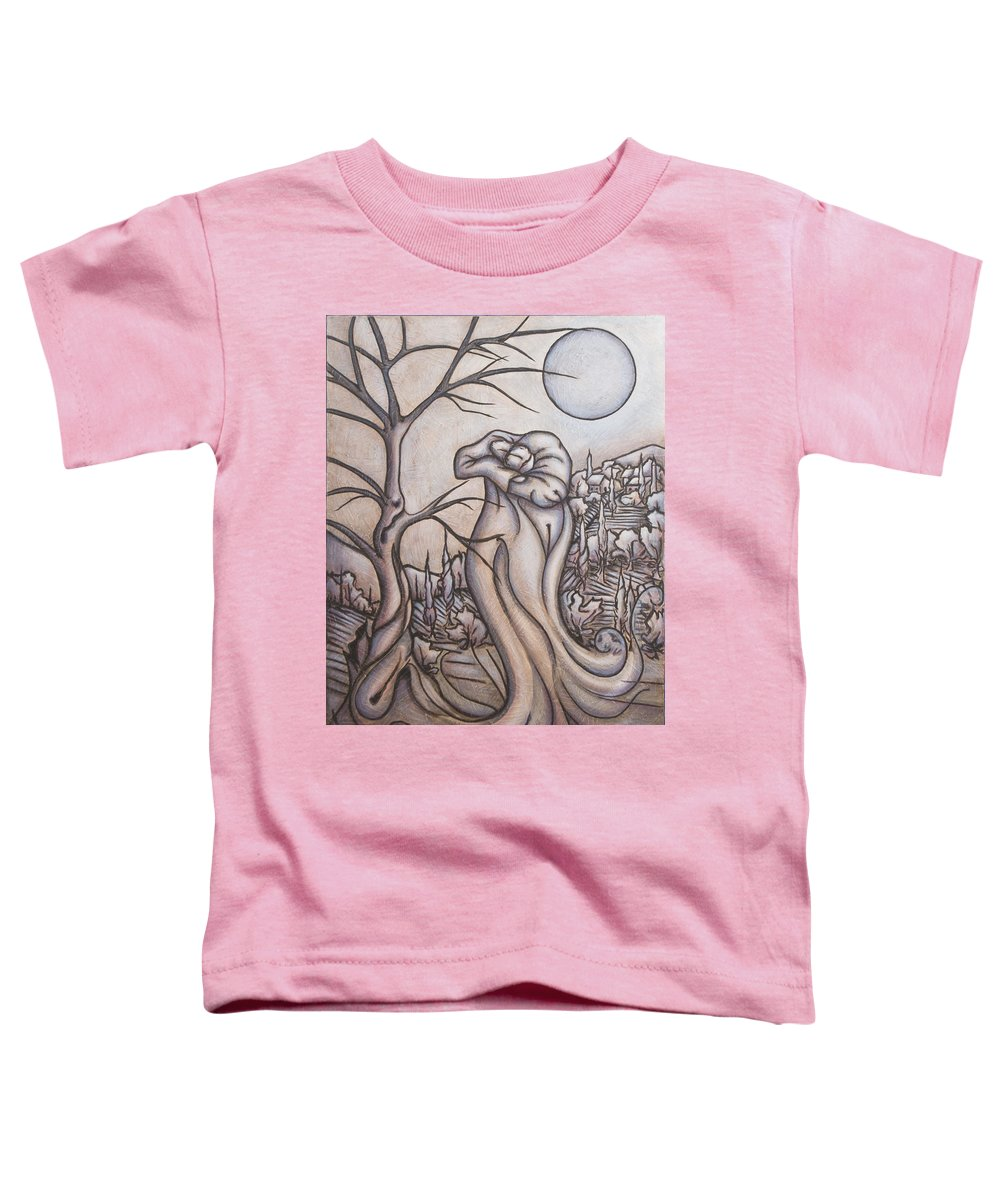 Dream. Moon Toddler T-Shirt featuring the painting Secrets And Dreams by Judy Henninger