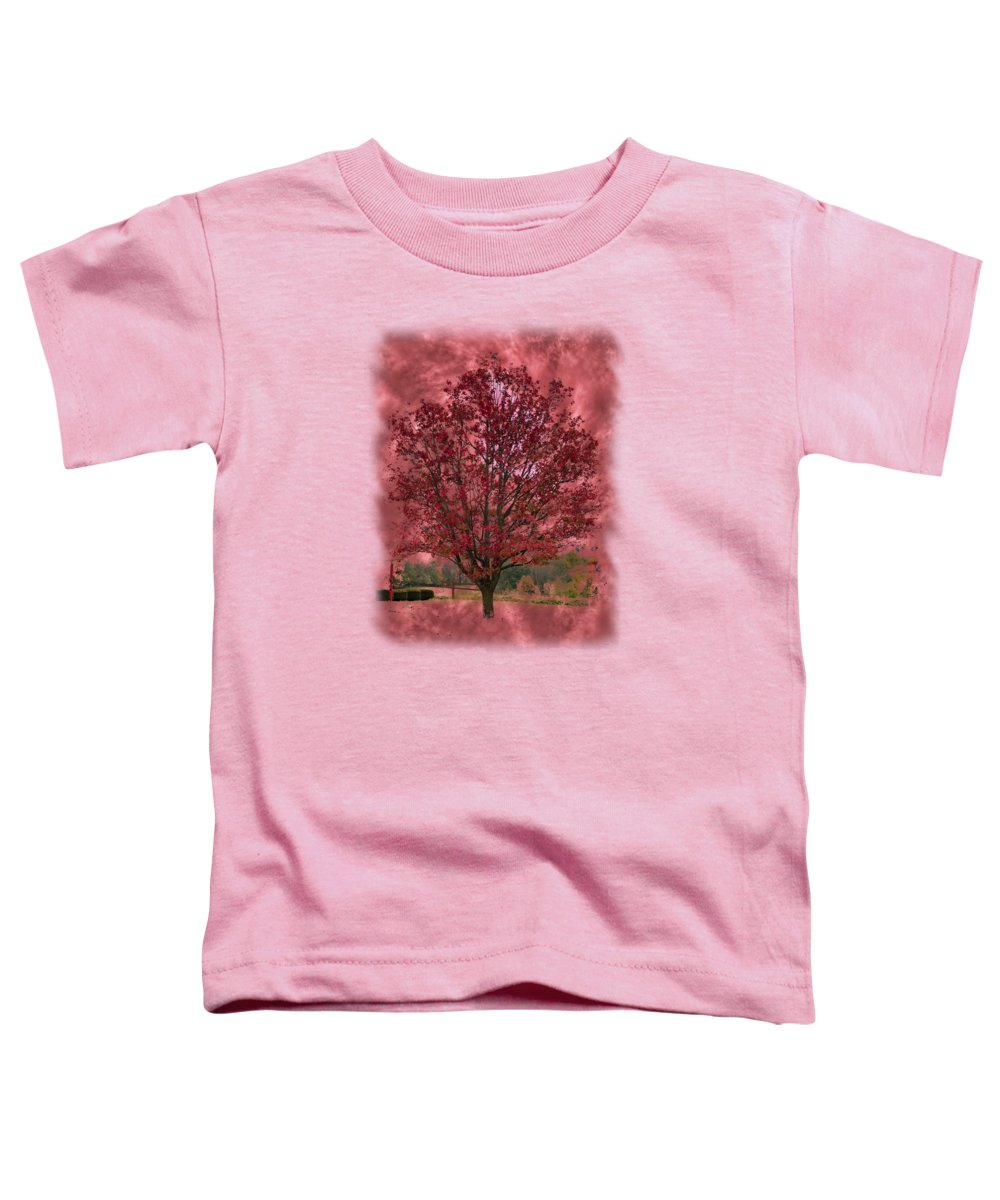 Sky Toddler T-Shirt featuring the photograph Seeing Red 2 by John M Bailey