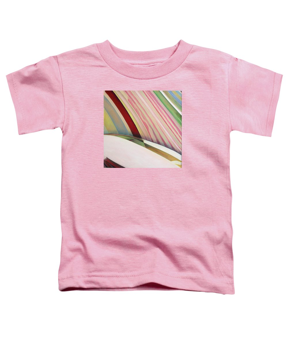 Abstract Toddler T-Shirt featuring the painting Sens 1 by Muriel Dolemieux