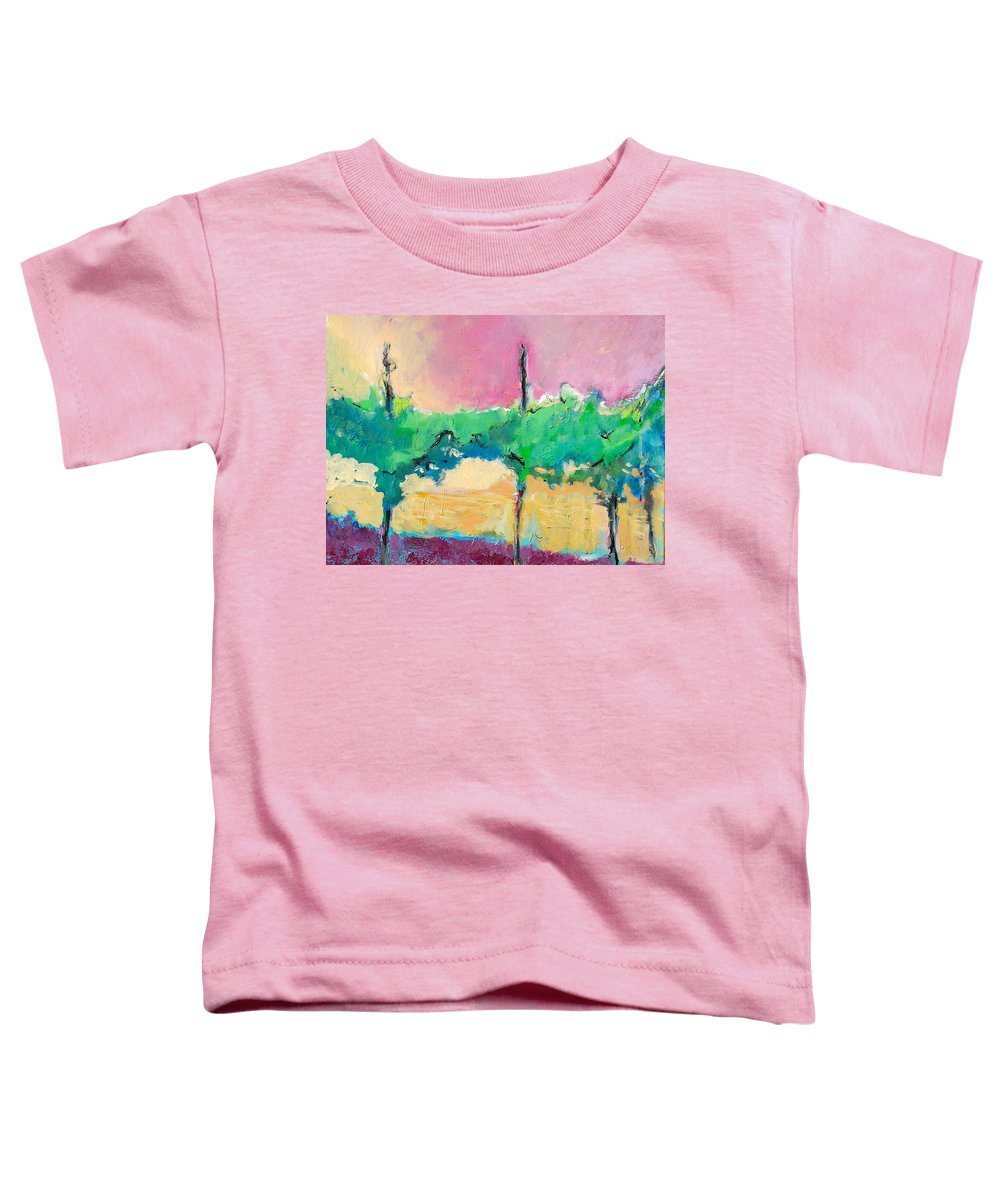 Vineyard Toddler T-Shirt featuring the painting Simpatico by Kurt Hausmann