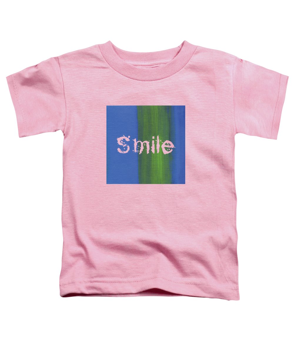 Love Toddler T-Shirt featuring the mixed media Smile by Kathleen Wong