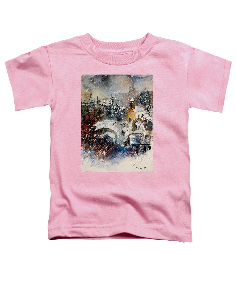 Landscape Toddler T-Shirt featuring the painting Snon In Frahan by Pol Ledent