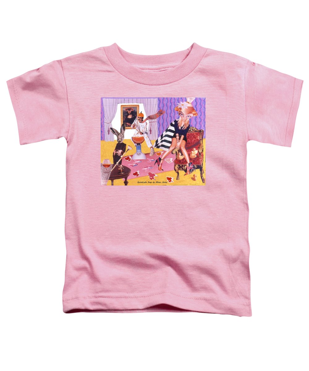 Mona Lisa Toddler T-Shirt featuring the drawing Soap Scene #20 Galleria Symbiosis by Minaz Jantz