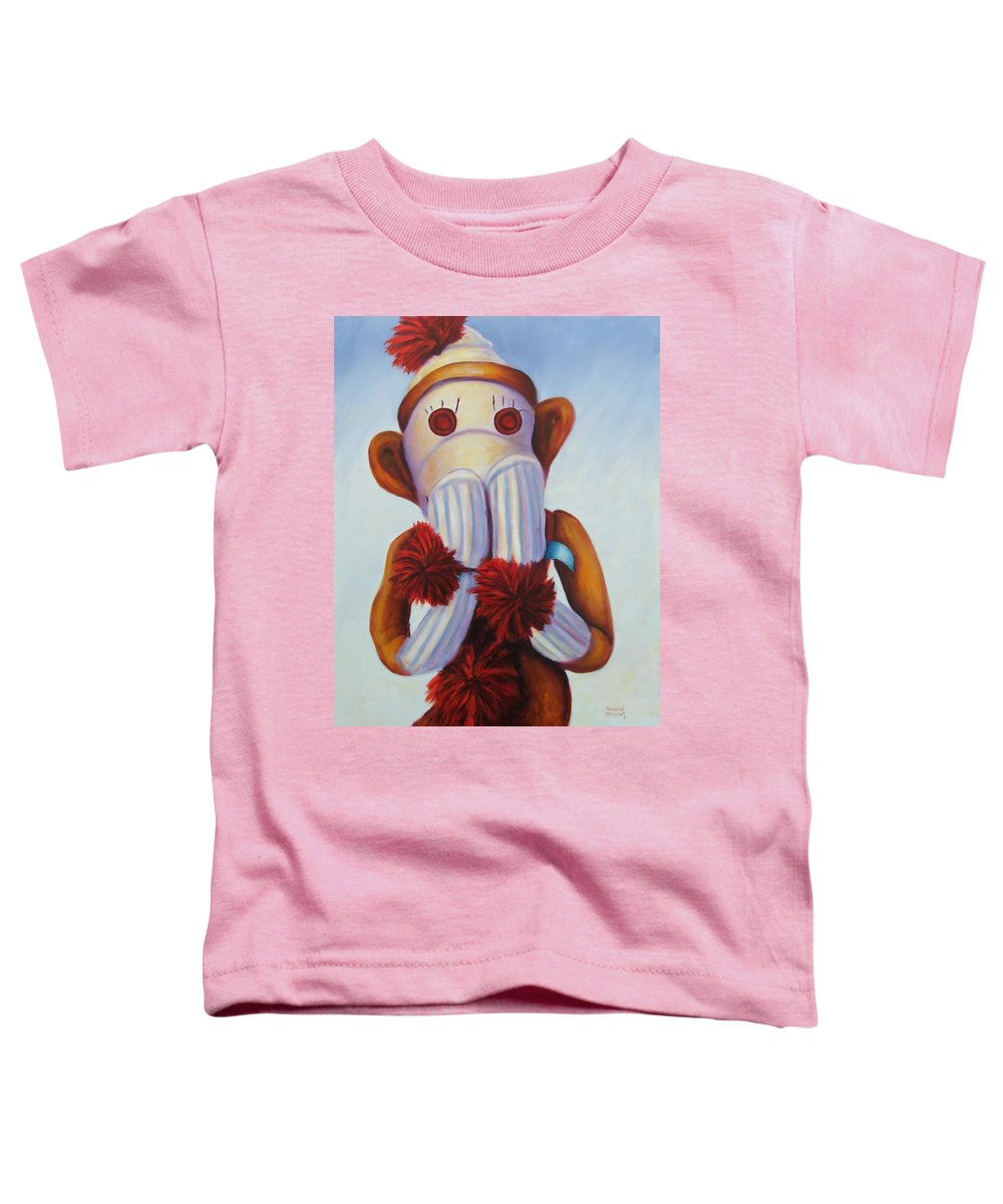 Children Toddler T-Shirt featuring the painting Speak No Bad Stuff by Shannon Grissom