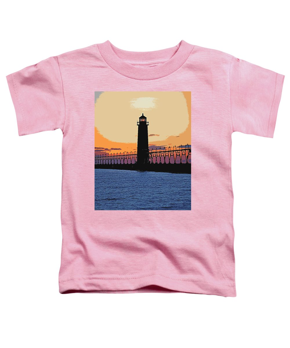 Light House Toddler T-Shirt featuring the photograph Standing Sure by Robert Pearson